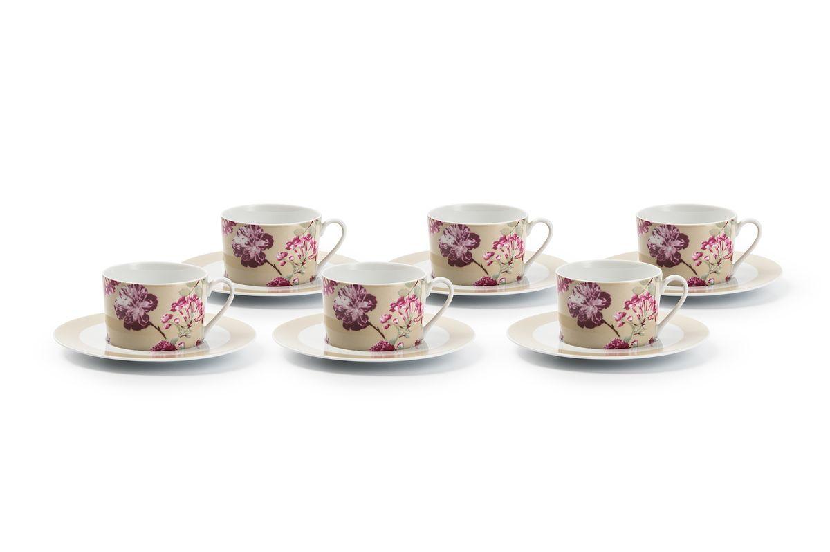 Набор чайных пар La Rose des Sables Liberty, 6 шт839007 2150Можно использовать в СВЧ и посудомоечной машине.