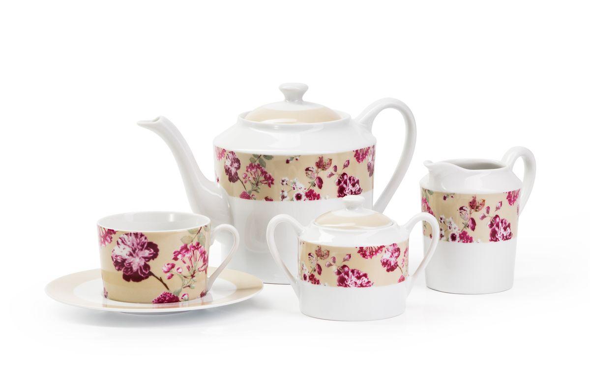 Сервиз чайный La Rose des Sables Liberty, 15 предметов839510 2150Можно использовать в СВЧ и посудомоечной машине.