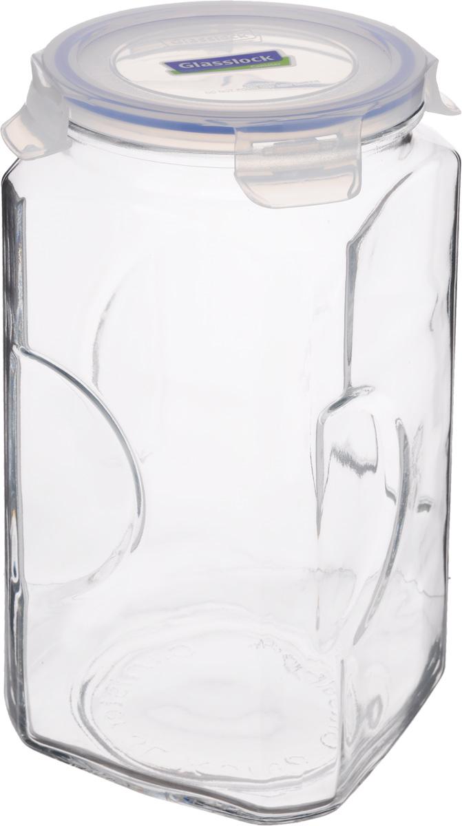 Контейнер для сыпучих продуктов Glasslock, 3 лIP-593Контейнер Glasslock изготовлен из высококачественного закаленного ударопрочного стекла. Герметичная крышка, выполненная из пластика и снабженная уплотнительной резинкой, надежно закрывается с помощью четырех защелок. Изделие подходит для специй, чая, кофе, круп, сахара и соли и многого другого. Такой контейнер стильно дополнит интерьер кухни и поможет эффективно организовать пространство. Подходит для мытья в посудомоечной машине, хранения в холодильных и морозильных камерах. Диаметр контейнера (по верхнему краю): 11,5 см. Размер контейнера (с учетом крышки): 12 х 12 х 27 см.