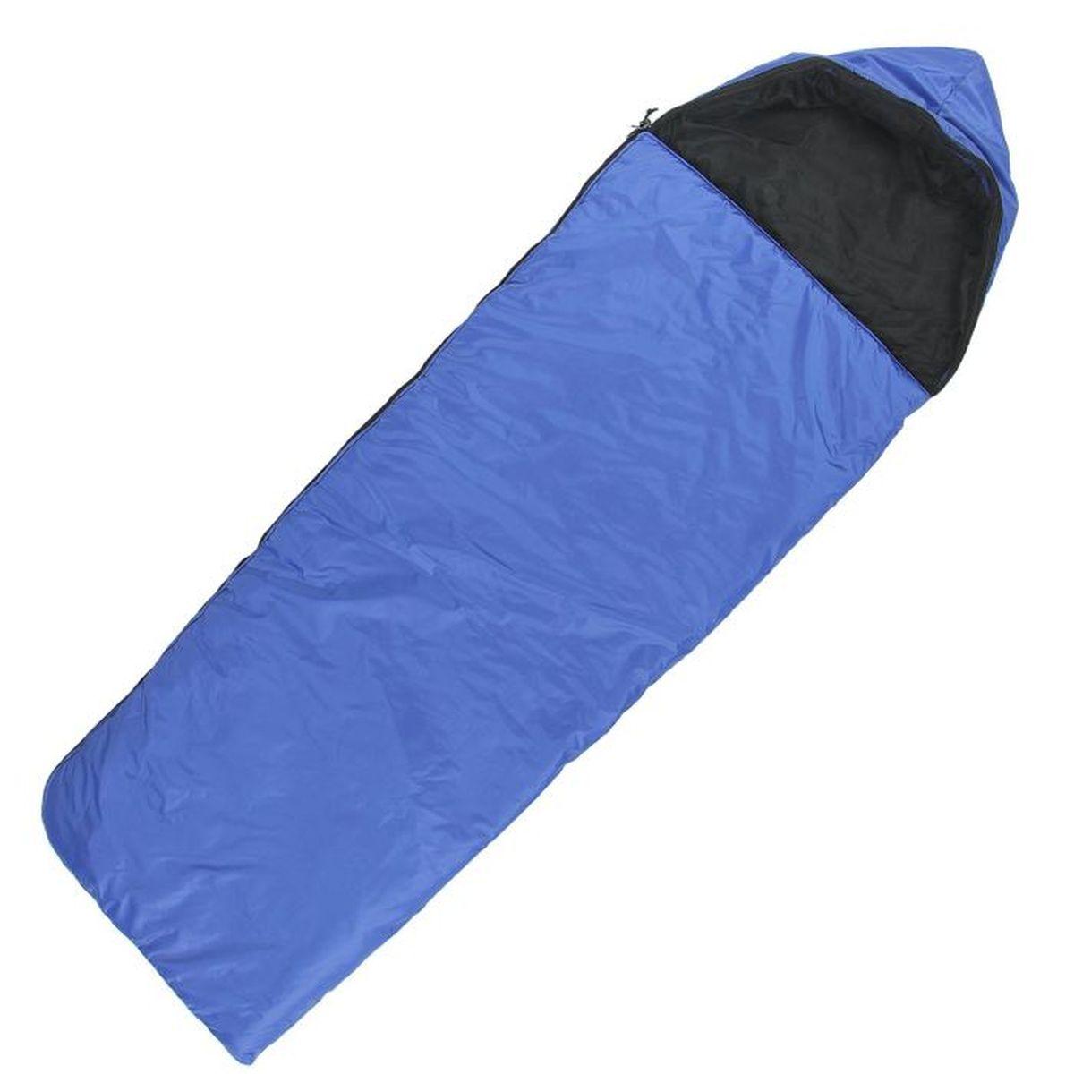 Спальный мешок Onlitop Люкс, цвет: синий, правосторонняя молния. 11359901135990Комфортный, просторный и очень теплый 3-х сезонный спальник предназначен для походов и для отдыха на природе не только в летнее время, но и в прохладные дни весенне-осеннего периода. В теплое время спальный мешок можно использовать как одеяло (в том числе и дома).