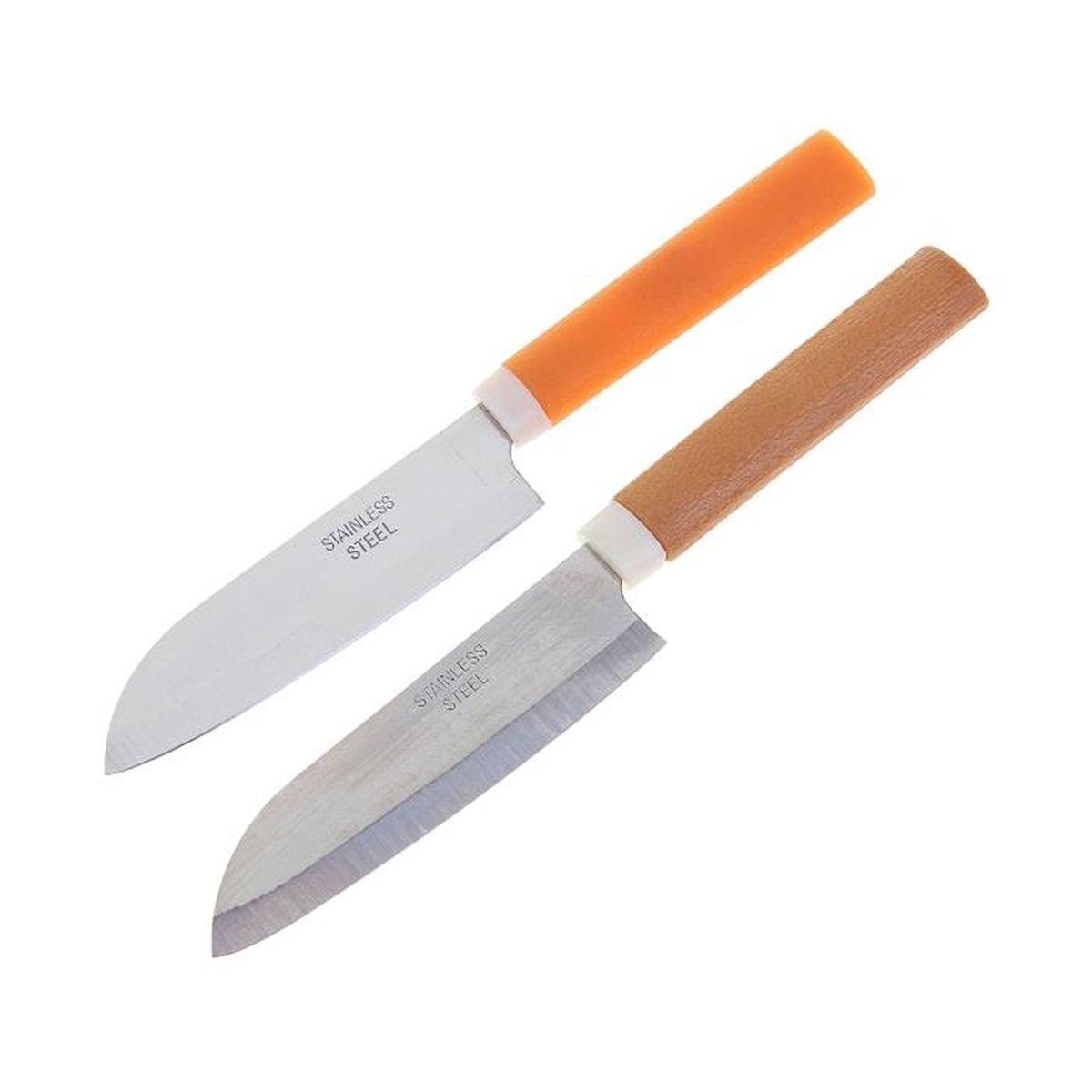 Нож с пластиковой ручкой, 21,5 х 4 см. 1218939