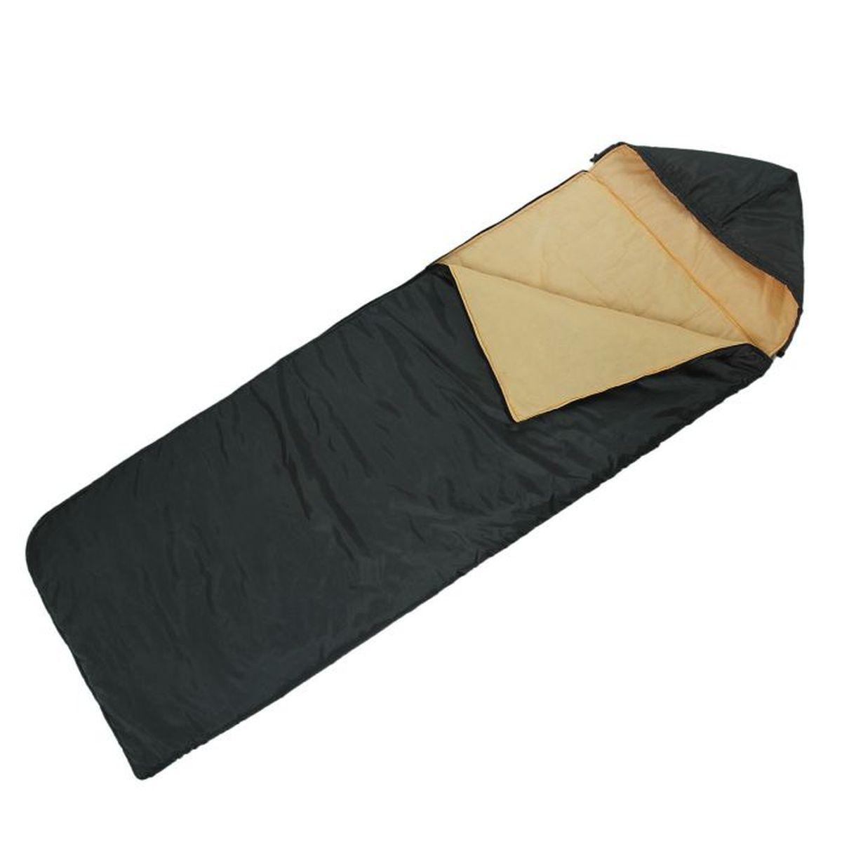 Спальный мешок Onlitop Престиж, цвет: черный, бежевый, правосторонняя молния1344025Комфортный, просторный и очень теплый 3-х сезонный спальник предназначен для походов и для отдыха на природе не только в летнее время, но и в прохладные дни весенне-осеннего периода. В теплое время спальный мешок можно использовать как одеяло (в том числе и дома).
