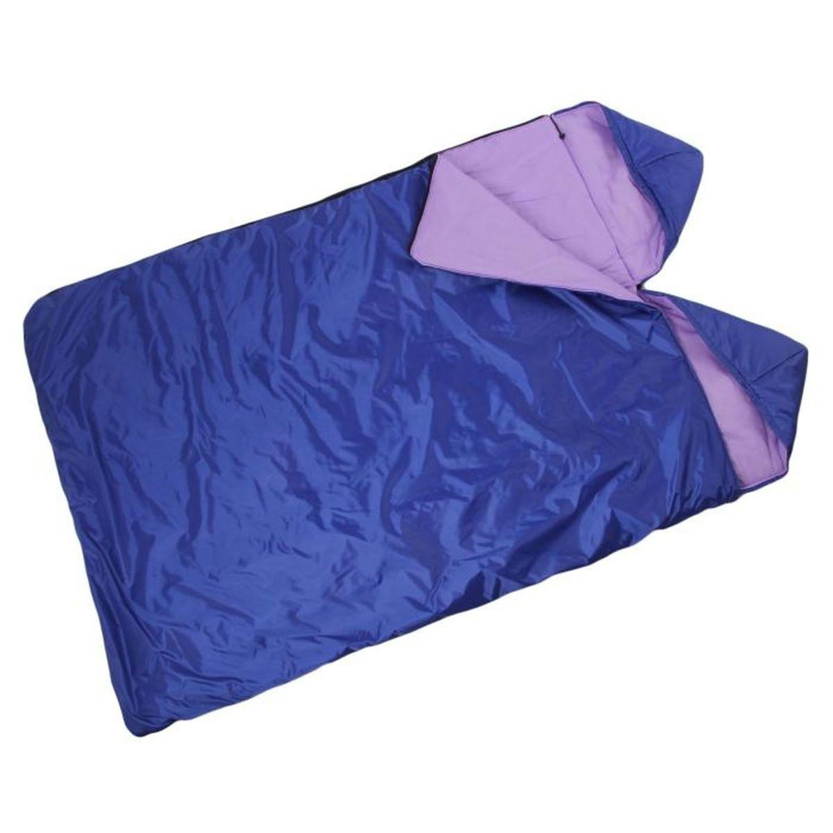 Спальный мешок Onlitop Престиж, 2-местный, цвет: фиолетовый, правосторонняя молния1344026Комфортный, просторный и очень теплый 3-х сезонный спальник предназначен для походов и для отдыха на природе не только в летнее время, но и в прохладные дни весенне-осеннего периода. В теплое время спальный мешок можно использовать как одеяло (в том числе и дома).