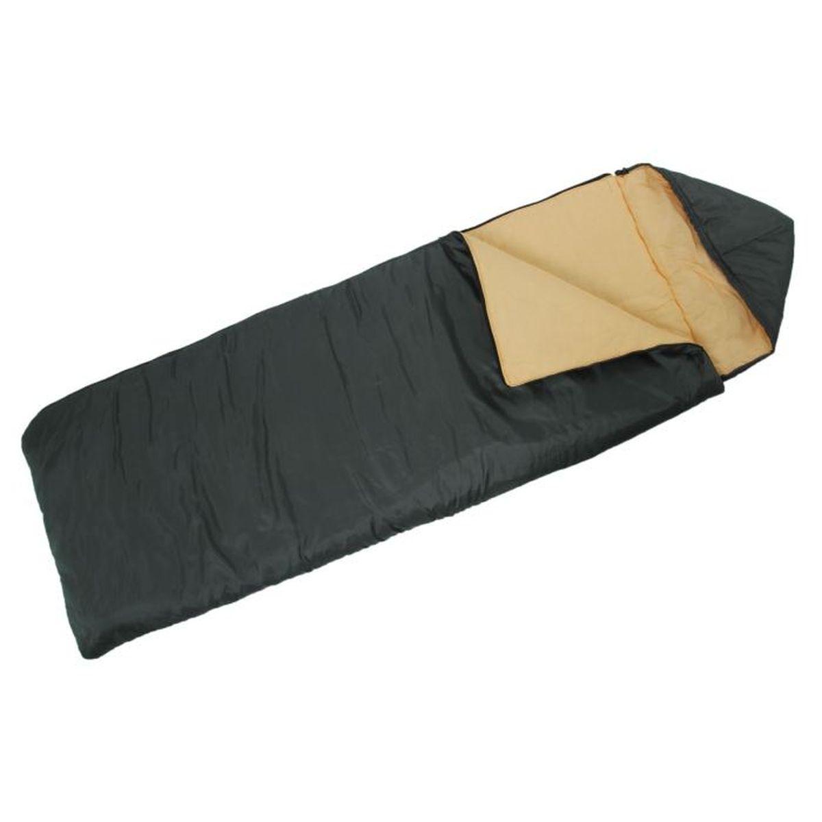 Спальный мешок Onlitop Престиж, цвет: черный, бежевый, правосторонняя молния. 13440291344029Комфортный, просторный и очень теплый 3-х сезонный спальник предназначен для походов и для отдыха на природе не только в летнее время, но и в прохладные дни весенне-осеннего периода. В теплое время спальный мешок можно использовать как одеяло (в том числе и дома).