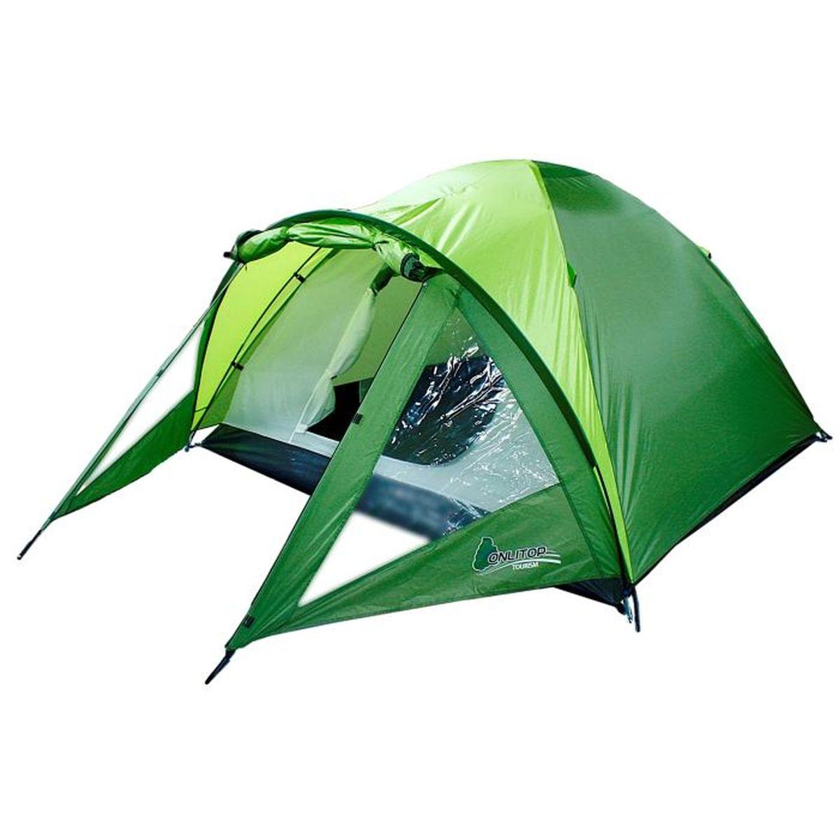 Палатка туристическая Onlitop TREKKER 3, цвет: зеленый776286Если вы заядлый турист или просто любитель природы, вы хоть раз задумывались о ночёвке на свежем воздухе. Чтобы провести её с комфортом, вам понадобится отличная палатка, Она обеспечит безопасный досуг и защитит от непогоды и насекомых. Ткань рипстоп гарантирует длительную эксплуатацию палатки за счёт высокой прочности материала.