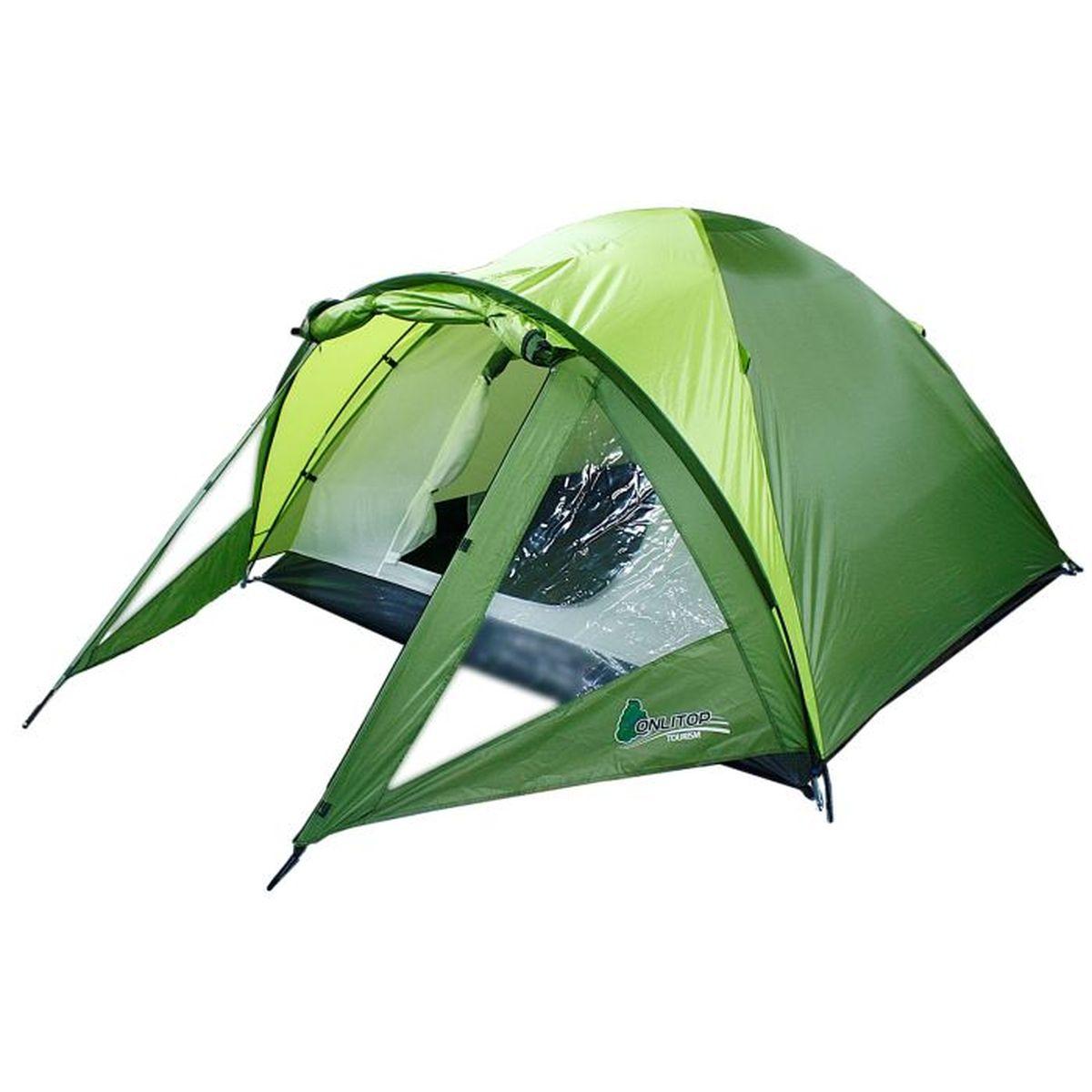 Палатка туристическая Onlitop OTTAWA 3, цвет: зеленый776299Если вы заядлый турист или просто любитель природы, вы хоть раз задумывались о ночёвке на свежем воздухе. Чтобы провести её с комфортом, вам понадобится отличная палатка, Она обеспечит безопасный досуг и защитит от непогоды и насекомых. Ткань рипстоп гарантирует длительную эксплуатацию палатки за счёт высокой прочности материала.