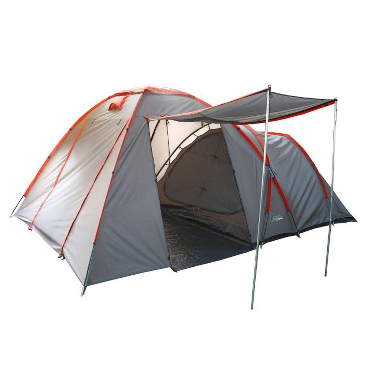 Палатка туристическая Onlitop SANTANA 4, цвет: серый776303Если вы заядлый турист или просто любитель природы, вы хоть раз задумывались о ночёвке на свежем воздухе. Чтобы провести её с комфортом, вам понадобится отличная палатка, Она обеспечит безопасный досуг и защитит от непогоды и насекомых. Ткань рипстоп гарантирует длительную эксплуатацию палатки за счёт высокой прочности материала.