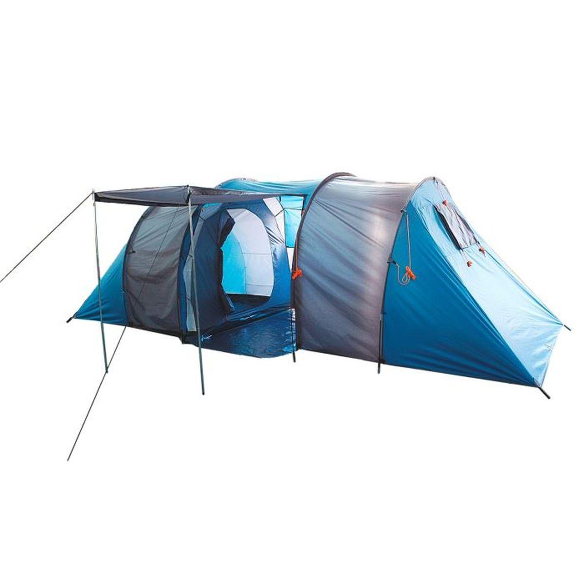 Палатка туристическая Onlitop CANYON 6, цвет: голубой867026Туристическая палатка CANYON — это конструкция, которая станет вашим вторым домом в природных условиях. Увеличенное пространство позволяет разместиться сразу всей семье. Она укроет от летнего зноя, непогоды, защитит от насекомых и мелких грызунов. Палатка проста в установке, а сэкономленное на сборке время вы сможете потратить на более приятные развлечения. Большой тамбур вместит все вещи. Шесть вентиляционных окон помогут проветрить палатку, что особенно актуально при такой вместимости. Положите палатку в багажник машины, рюкзак или несите её за удобные ручки и наслаждайтесь досугом.
