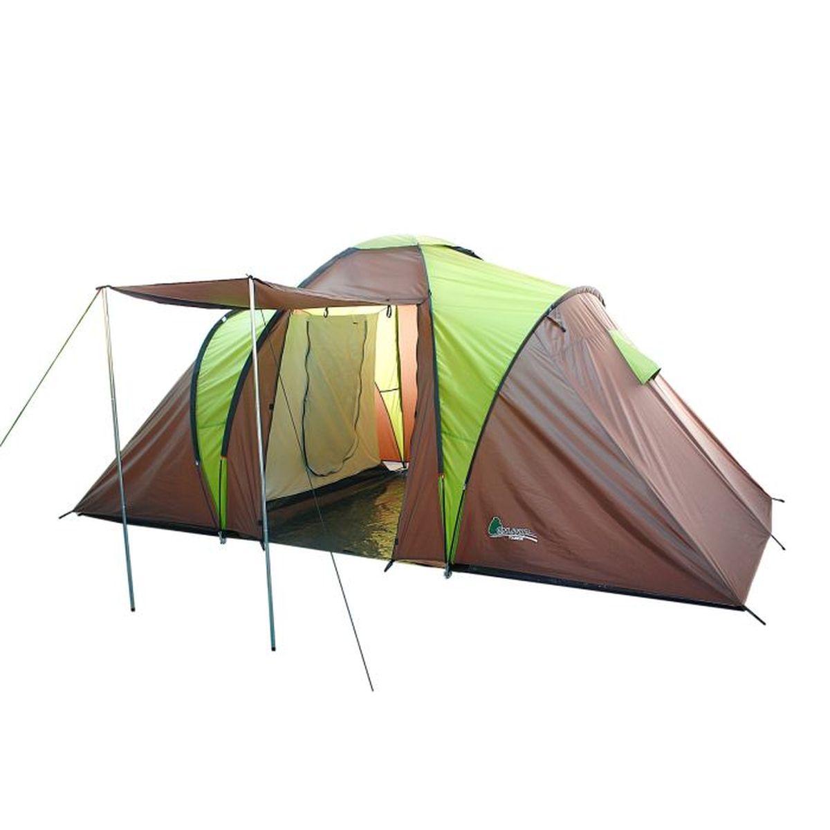 Палатка туристическая Onlitop MIRAGE 4, цвет: коричневый, зеленый