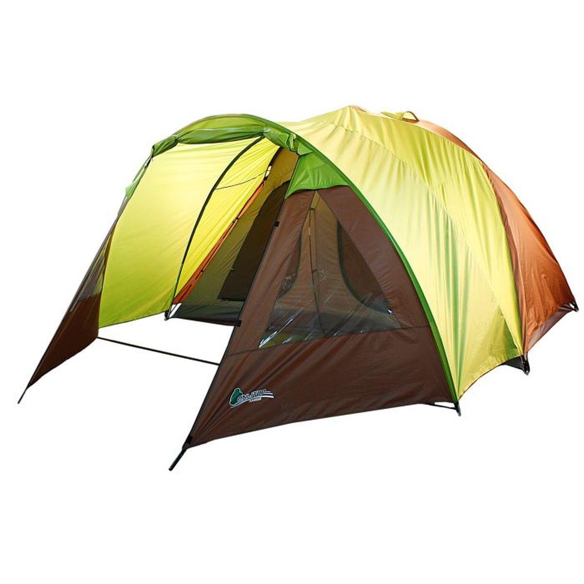 Палатка туристическая Onlitop MINNESOTA 6, цвет: желтый, коричневый867028Если вы заядлый турист или просто любитель природы, вы хоть раз задумывались о ночёвке на свежем воздухе. Чтобы провести её с комфортом, вам понадобится отличная палатка, Она обеспечит безопасный досуг и защитит от непогоды и насекомых. Ткань рипстоп гарантирует длительную эксплуатацию палатки за счёт высокой прочности материала.