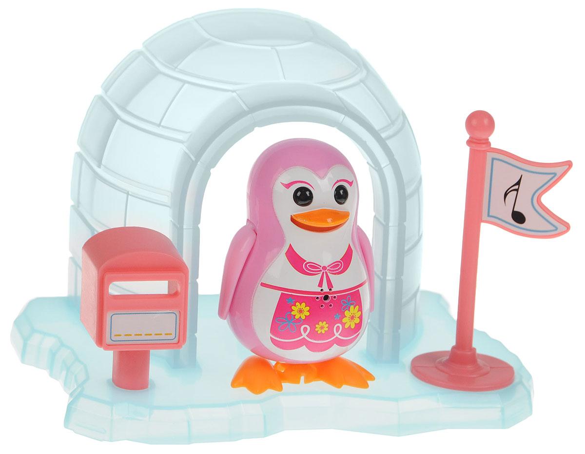 DigiFriends Интерактивная игрушка Пингвин с домиком цвет розовый88343_розовыйВсе слышали о различных домашних питомцах, но чтобы о пингвинах - никогда! Теперь у вас есть возможность получить маленького друга, интерактивного пингвина с домиком. Эта умная птичка будет развлекать вас различными мелодиями, гоготанием, а также танцами в виде покачиваний в такт музыке. Кольцо-свисток может служить как переносной насест для птички. Ребенок может надеть кольцо на два пальца, закрепить там птичку и свободно играть. Интерактивная игрушка DigiFriends Пингвин с домиком устойчива на любой ровной поверхности. Игрушка работает в двух режимах: соло и хор. Можно совмещать неограниченное количество птиц. Рекомендуется докупить 3 батарейки типа LR44 (товар комплектуется демонстрационными).