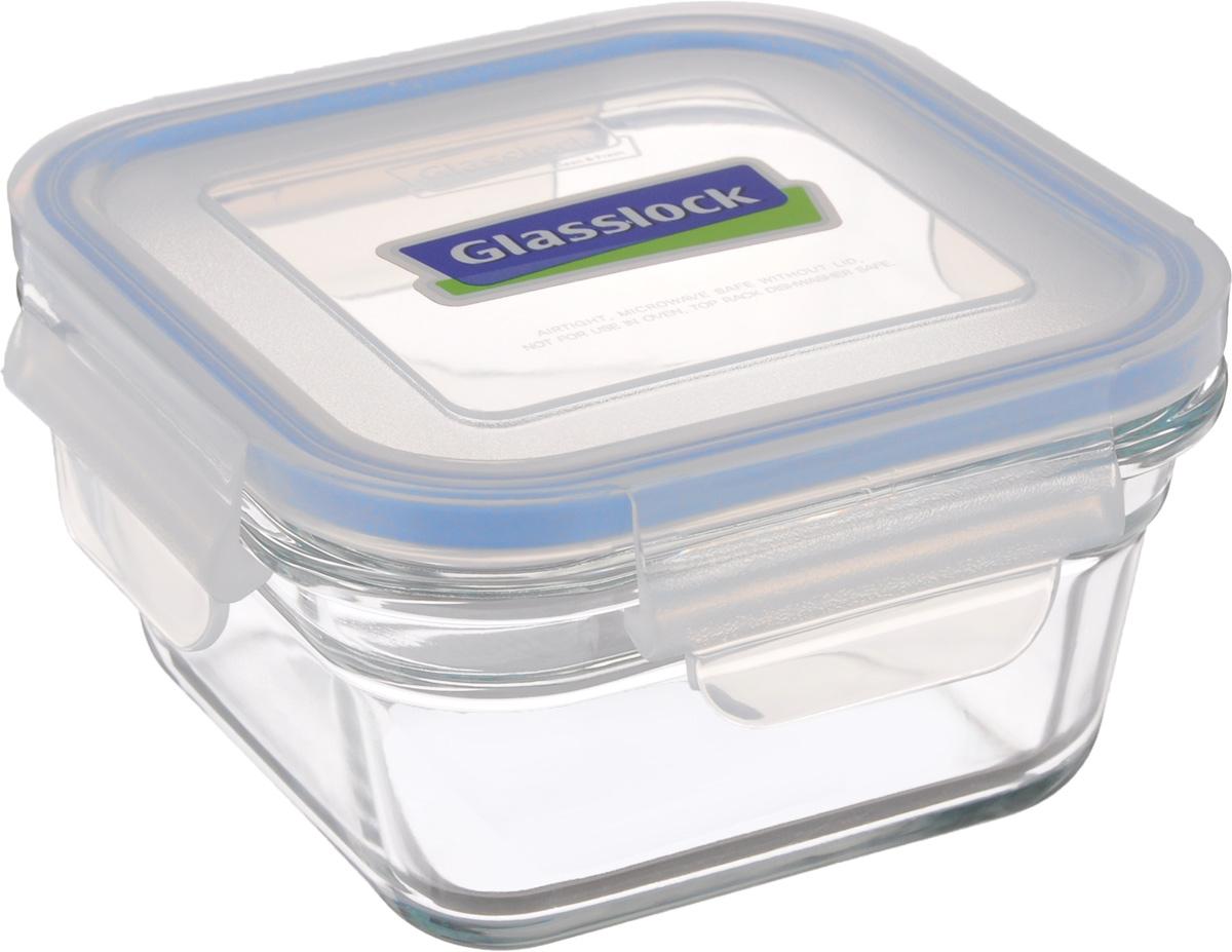 Контейнер пищевой Glasslock, квадратный, цвет: прозрачный, синий, 405 млOCST-040Контейнер пищевой Glasslock изготовлен из высококачественного закаленного ударопрочного стекла. Герметичная крышка, выполненная из пластика и снабженная уплотнительной резинкой, надежно закрывается с помощью четырех защелок. Подходит для мытья в посудомоечной машине, хранения в холодильных и морозильных камерах, использования в микроволновых печах. Выдерживает резкий перепад температур. Стеклянная посуда нового поколения от Glasslock экологична, не содержит токсичных и ядовитых материалов; превосходная герметичность позволяет сохранять свежесть продуктов; покрытие не впитывает запах продуктов; имеет утонченный европейский дизайн - прекрасное украшение стола. Размер контейнера по верхнему краю: 11 х 11 см. Высота контейнера (с учетом крышки): 7,5 см.