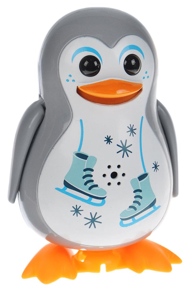 DigiFriends Интерактивная игрушка Пингвин с кольцом цвет серый88333_серыйУ вас есть уникальная возможность получить замечательного домашнего питомца - поющего пингвина. Не каждый может похвастаться этим. Интерактивная игрушка DigiFriends Пингвин с кольцом - это умная птичка, которая будет развлекать вас различными мелодиями, пением и ритмичными движениями. Для активизации птички необходимо подуть на нее. Чтобы активировать режим проигрывания мелодий достаточно посвистеть в свисток, который имеется в комплекте. Игрушка издает 55 вариантов мелодий и звуков. Кольцо-свисток может служить как переносной насест для птички. Ребенок может надеть кольцо на два пальца, закрепить там игрушку и свободно играть. Птичка устойчива на любой ровной поверхности. Игрушка может поворачивать голову и шевелить клювом в такт мелодии. Игрушка работает в двух режимах: соло и хор. Можно синхронизировать неограниченное количество птичек или других персонажей DigiFriends. Главным в хоре становится персонаж, которого включили первым. Такая игрушка станет незабываемым...