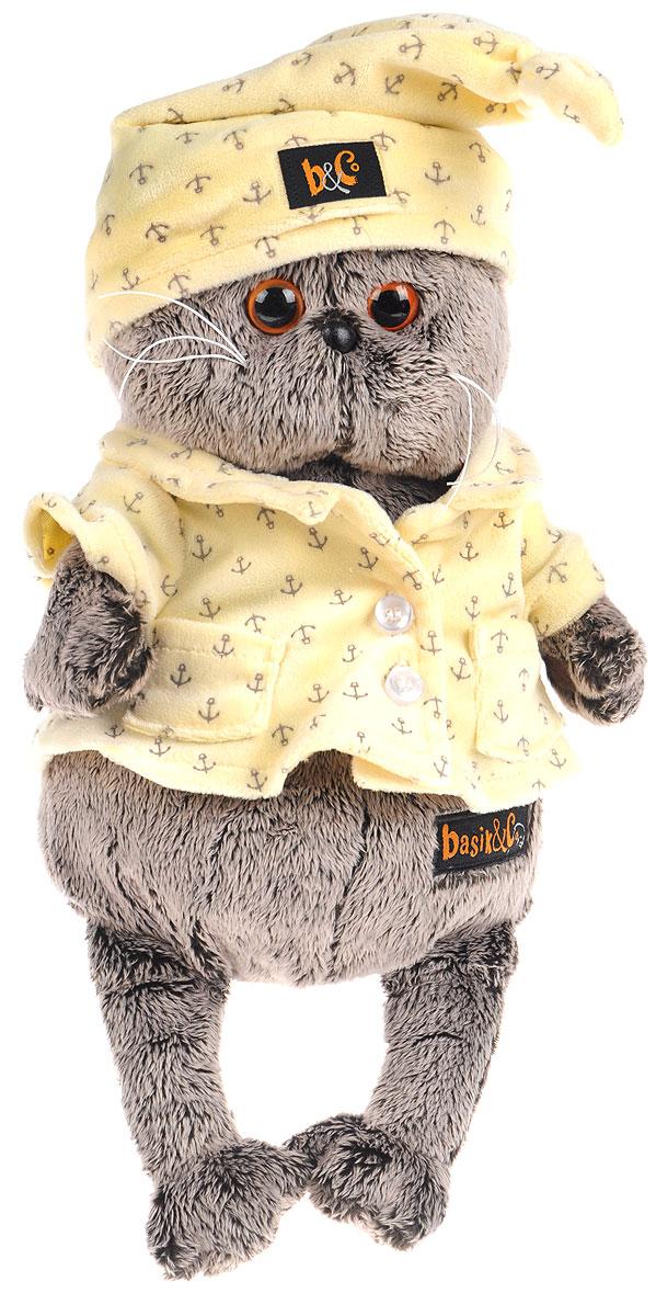 Мягкая игрушка Басик в пижаме 22 смKs22-024Мягкая игрушка Басик в пижаме подарит малышу немало прекрасных мгновений. Дети очень трепетно относятся к домашним животным, особенно они любят котов, собак и часто просят своих родителей приобрести им такого друга. Однако домашние питомцы не всегда хорошо влияют на детей - они могут поцарапать и даже вызвать аллергическую реакцию, поэтому приходят на помощь мягкие игрушки, очень похожие на настоящих питомцев. С этим шотландским вислоухим котиком можно играть, отдыхать и засыпать в обнимку, рассказывая свои секреты. У него густая плюшевая шерстка, которую так приятно гладить. У Басика круглые медовые глазки, маленькие ушки и черный носик. Басик одет в милую теплую пижаму цвета топленого молока из мягкого материала с принтом в виде якорьков. Мягкие игрушки очень полезны для малышей, потому что весьма позитивно влияют на детскую нервную систему, прогоняя всевозможные страхи. Играя, малыш развивает фантазию и воображение, развивает тактильную...