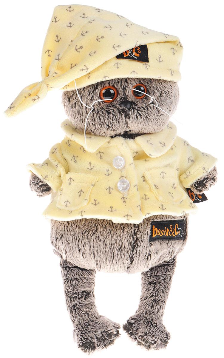 Мягкая игрушка Басик в пижаме 19 смKs19-024Мягкая игрушка Басик в пижаме подарит малышу немало прекрасных мгновений. Дети очень трепетно относятся к домашним животным, особенно они любят котов, собак и часто просят своих родителей приобрести им такого друга. Однако домашние питомцы не всегда хорошо влияют на детей - они могут поцарапать и даже вызвать аллергическую реакцию, поэтому приходят на помощь мягкие игрушки, очень похожие на настоящих питомцев. С этим шотландским вислоухим котиком можно играть, отдыхать и засыпать в обнимку, рассказывая свои секреты. У него густая плюшевая шерстка, которую так приятно гладить. У Басика круглые медовые глазки, маленькие ушки и черный носик. Басик одет в милую теплую пижаму цвета топленого молока из мягкого материала с принтом в виде якорьков. Мягкие игрушки очень полезны для малышей, потому что весьма позитивно влияют на детскую нервную систему, прогоняя всевозможные страхи. Играя, малыш развивает фантазию и воображение, развивает тактильную чувствительность и...