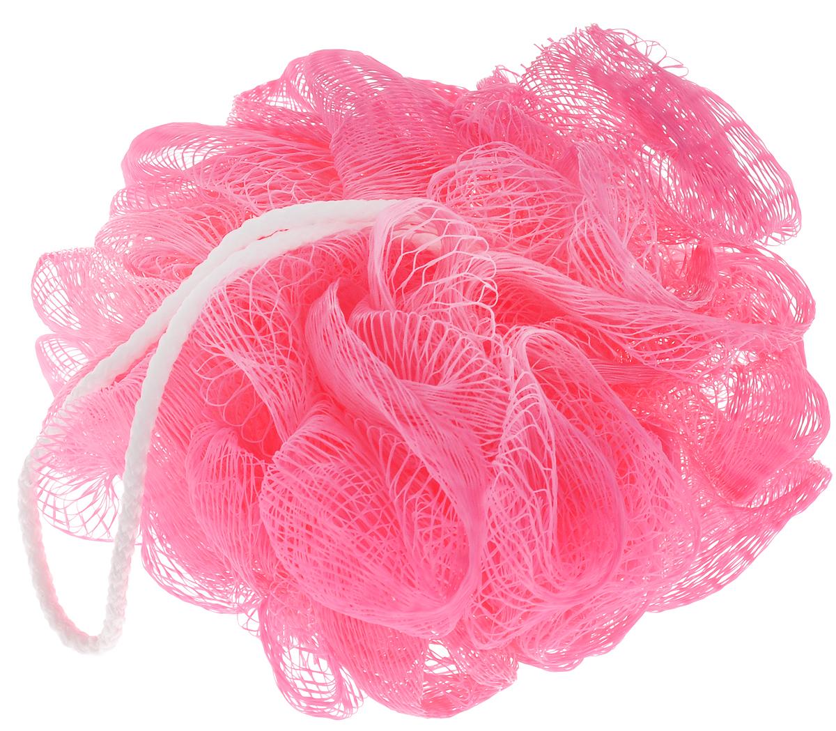 Мочалка Fun Fresh Хамелеон, цвет: розовый, диаметр 8 см1.12Мочалка Fun Fresh Хамелеон, выполненная из нейлона, предназначена для мягкого очищения кожи. Она станет незаменимым аксессуаром ванной комнаты. Мочалка отлично пенится, обладает легким массажным воздействием, идеально подходит для нежной и чувствительной кожи. На мочалке имеется удобная петля для подвешивания. Диаметр: 8 см.