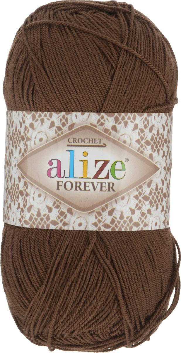 Пряжа для вязания Alize Forever, цвет: коричневый (150), 300 м, 50 г, 5 шт367022_150Пряжа Alize Forever - это тщательно обработанная акриловая пряжа, которая приобретает вид мерсеризованной нити. Классическая пряжа, прочная, мягкая и шелковистая. Большое разнообразие цветов и оттенков от спокойных до ярких позволяет подобрать пряжу для вязания на любой вкус. Предназначена для вязания летних и весенних вещей и прекрасно подойдет как для спиц, так и для крючка. Изделия получаются очень красивыми и нарядными и при этом комфортными в носке. Рекомендованные спицы: 2-3,5 мм. Рекомендованный крючок: 0,75-1,5 мм. Состав: 100% акрил. Количество мотков: 5 шт.