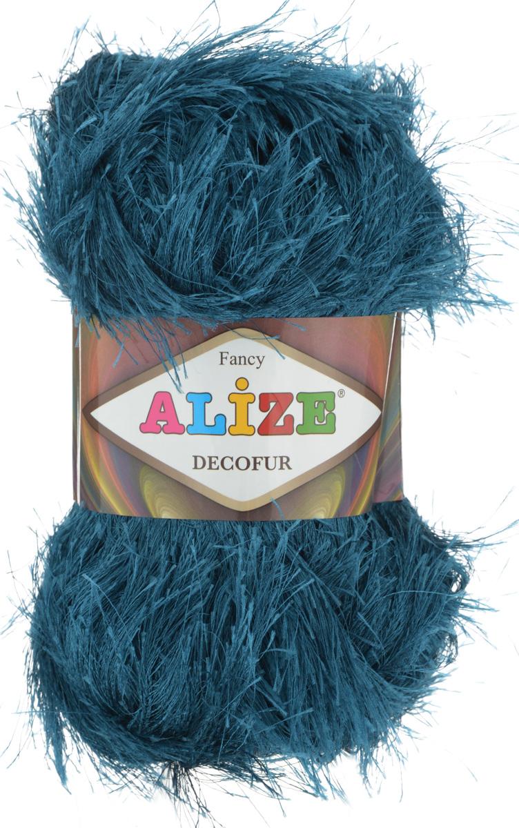 Пряжа для вязания Alize Decofur, цвет: морская волна (330), 110 м, 100 г, 5 шт364128_330Пряжа Alize Decofur изготовлена из высококачественного полиэстера. Пряжа - травка используется как для вязания самостоятельных пушистых изделий, так и для отделки. Это могут быть нарядные кофточки, куртки, накидки, шарфы, шапки, шали, предметы домашнего интерьера, игрушки и многое другое. Рекомендованные спицы для вязания: 6-8 мм. Рекомендованный крючок для вязания: 3-4 мм. Комплектация: 5 шт. Состав: 100% полиэстер.