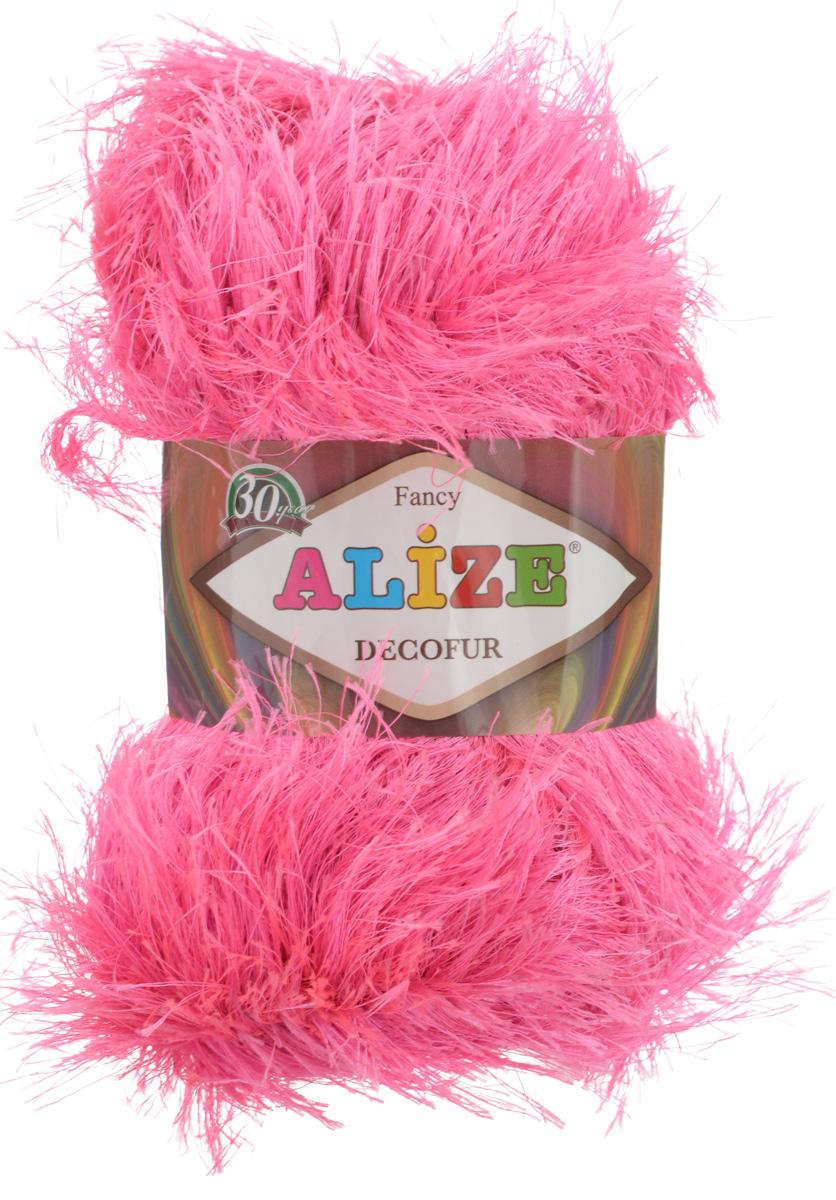 Пряжа для вязания Alize Decofur, цвет: розовый (157), 110 м, 100 г, 5 шт364128_157Пряжа Alize Decofur изготовлена из высококачественного полиэстера. Пряжа - травка используется как для вязания самостоятельных пушистых изделий, так и для отделки. Это могут быть нарядные кофточки, куртки, накидки, шарфы, шапки, шали, предметы домашнего интерьера, игрушки и многое другое. Рекомендованные спицы для вязания: 6-8 мм. Рекомендованный крючок для вязания: 3-4 мм. Комплектация: 5 шт. Состав: 100% полиэстер.