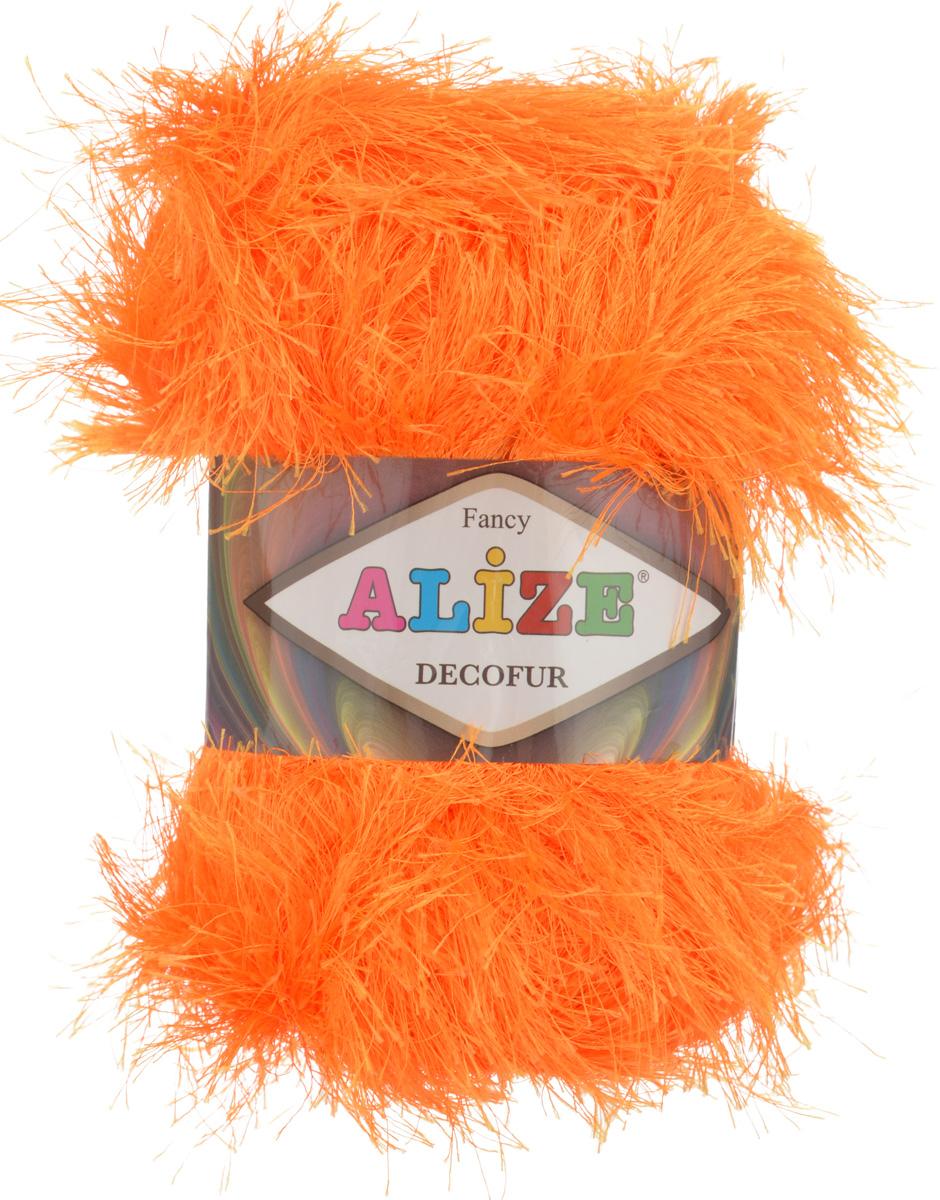 Пряжа для вязания Alize Decofur, цвет: оранжевый (654), 110 м, 100 г, 5 шт364128_654Пряжа Alize Decofur изготовлена из высококачественного полиэстера. Пряжа - травка используется как для вязания самостоятельных пушистых изделий, так и для отделки. Это могут быть нарядные кофточки, куртки, накидки, шарфы, шапки, шали, предметы домашнего интерьера, игрушки и многое другое. Рекомендованные спицы для вязания: 6-8 мм. Рекомендованный крючок для вязания: 3-4 мм. Комплектация: 5 шт. Состав: 100% полиэстер.