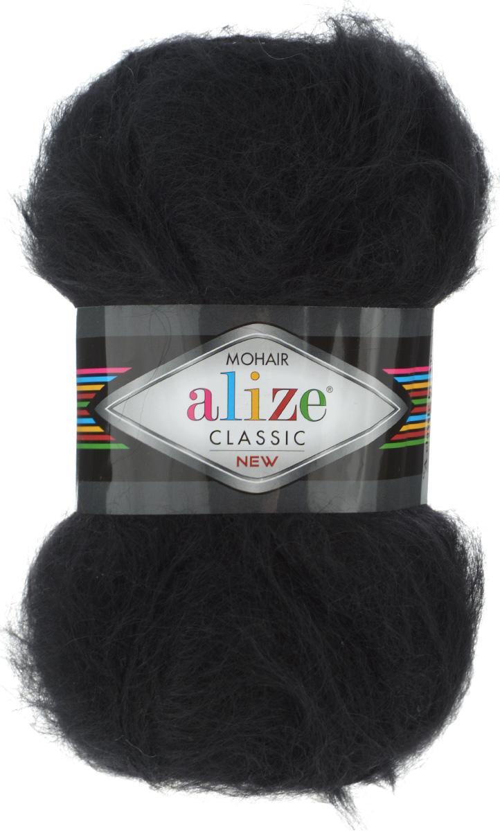 Пряжа для вязания Alize Mohair Classik New, цвет: черный (60), 200 м, 100 г, 5 шт582105_60Классическая мохеровая пряжа Alize Mohair Classik New для ручного вязания, тонкая, мягкая, деликатная нить, хорошо скрученная. Послушная нить, которая отлично подходит для опытных вязальщиц и для начинающих рукодельниц. Легкая и гибкая пряжа с акрилом, придающим готовым вещам практичность. Благодаря пушистому мохеру можно использовать самый простой узор и при этом изделие будет выглядеть великолепно. Высококачественная пряжа, равномерно окрашенная, не линяет. Мягкая, теплая нить прекрасно подходит для взрослой и детской зимней одежды. Пушистость пряжи в изделии без сложных узлов даже с ровной вязкой будет придавать одежде особый шарм. Состав: 25% мохер, 24% шерсть, 51% акрил. Рекомендованные спицы № 5-7, крючок № 2-4.