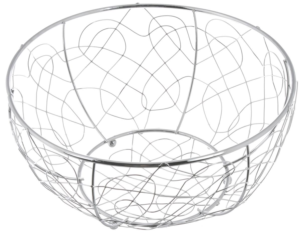 Фруктовница Olaff, круглая, диаметр 28,5 смYSH-1108Оригинальная фруктовница Olaff, изготовленная из нержавеющей стали с хромированной поверхностью, идеально подходит для хранения и красивой сервировки любых фруктов. Современный дизайн фруктовницы идеально впишется в интерьер вашей кухни. Изделие рекомендуется мыть вручную с применением любых неабразивных моющих средств. Не рекомендуется использование металлических щеток для чистки. Диаметр (по верхнему краю): 28,5 см. Высота: 14 см.