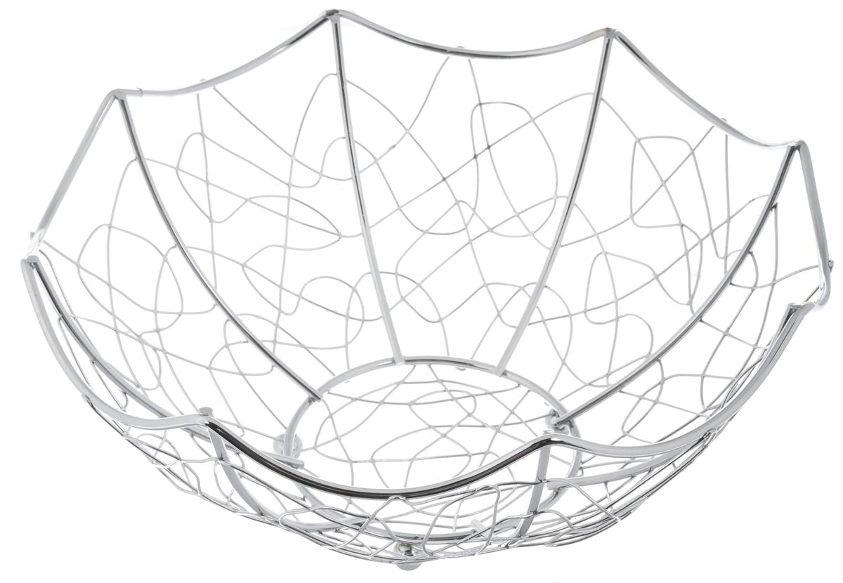 Фруктовница Guterwahl, диаметр 28,8 смYSH-003-24Оригинальная фруктовница Guterwahl, изготовленная из нержавеющей стали с хромированной поверхностью, идеально подходит для хранения и красивой сервировки любых фруктов. Современный дизайн фруктовницы идеально впишется в интерьер вашей кухни. Изделие рекомендуется мыть вручную с применением любых неабразивных моющих средств. Не рекомендуется использование металлических щеток для чистки. Диаметр (по верхнему краю): 28,8 см. Высота: 10 см.