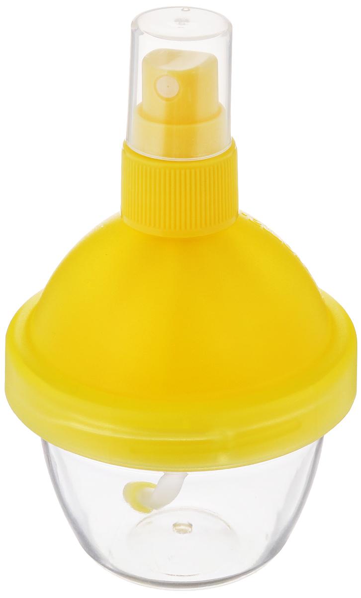 Распылитель лимонного сока Tescoma Vitamino, с соковыжималкой, цвет желтый642770_желтыйРаспылитель Tescoma Vitamino отлично подходит для добавки свежего лимонного сока в салаты, рыбные блюда, блюда, приготовленные на гриле, жареные блюда. Он оснащен соковыжималкой, предназначенной для удобного выжимания сока из лимонов и лайма. Изделие выполнено из высококачественного прочного пластика Сок в распылителе можно хранить в холодильнике. Высота: 11,5 см. Объем: 90 мл.