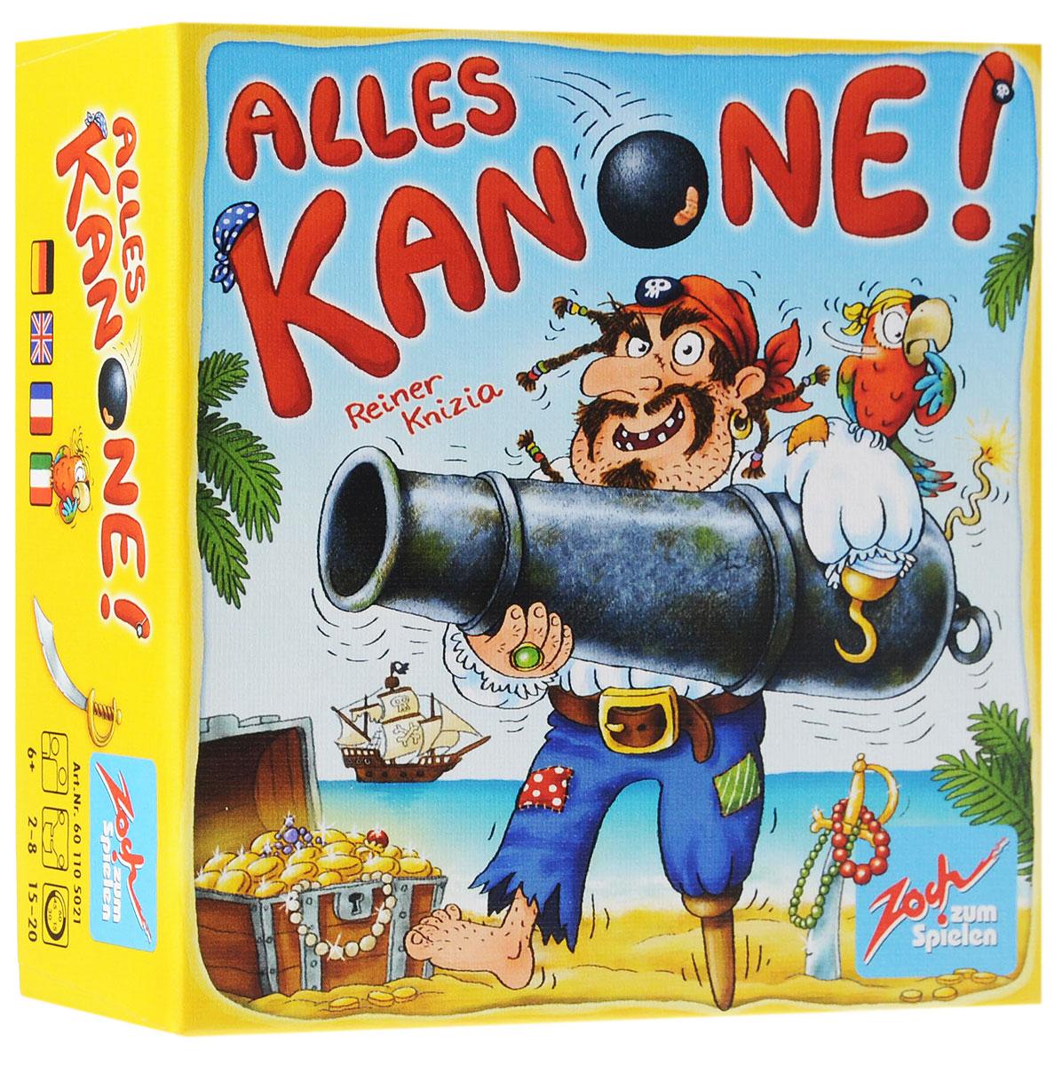 Zoch Настольная игра Аллес ПиратыУТ100002035Настольная игра Zoch Аллес. Пираты - это быстрая игра на память, а главное реакцию. Легкомысленная и динамичная, с симпатичным оформлением. На картах вы увидите кривую саблю, подзорную трубу, попугая и милого Кракена... Игроки должны запоминать предметы, находящиеся на закрытых картах, а в момент появления из колоды карты той же темы, первыми выкрикнуть название предмета с закрытой карты. Состав игры: 7 тематических карт с фоном 7 разных цветов, 49 пиратских карт с фоном 7 разных цветов.