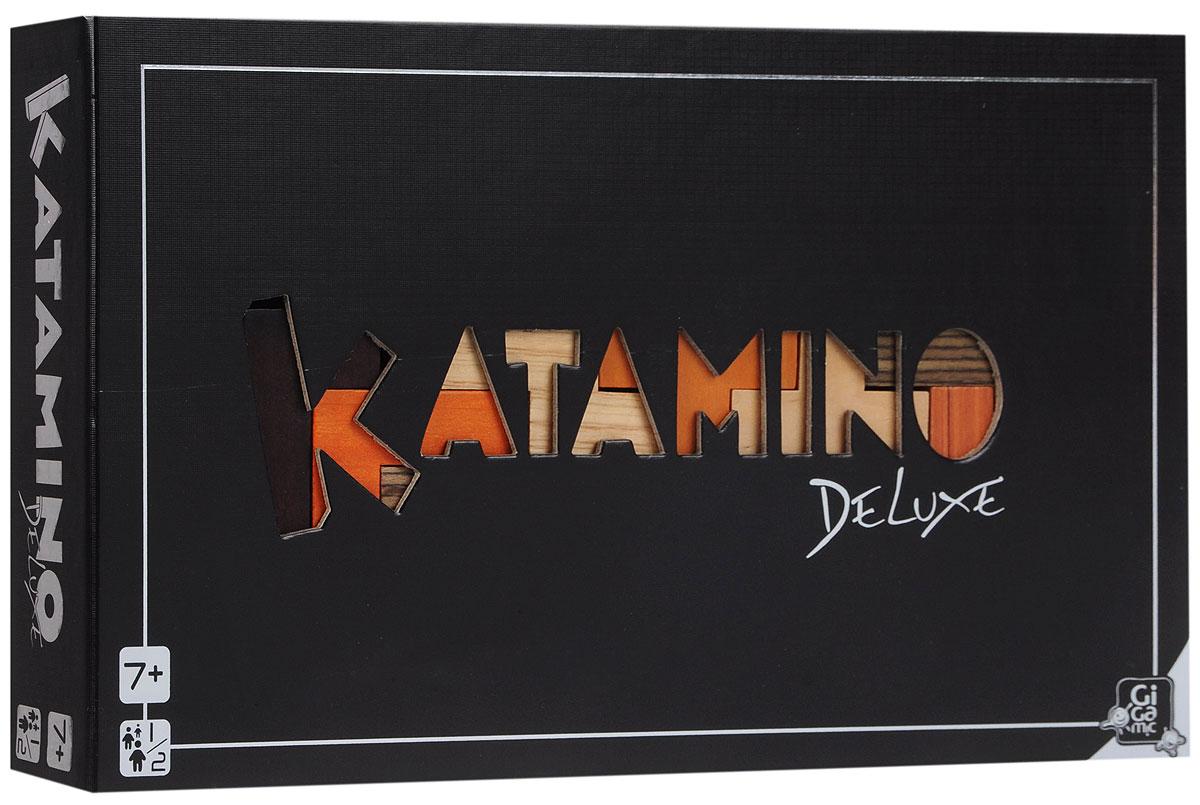 Gigamic Настольная игра Катамино Делюкс3421271302025Настольная игра Gigamic Катамино Делюкс отличается от обычного Катамино только оформлением. Под силу ли вам заполнить указанными в задании пентамино прямоугольное поле? С тремя элементами справится каждый, но над задачей из 8 элементов вам придется, как следует подумать. Очень увлекательная головоломка для одного или двух участников, которая развивает пространственное мышление. Цель игры для одного игрока: используя определенное количество пентамино, сложить на поле идеальные фигуры, называемые пентами. Цель игры для двух игроков: игроки совершают ходы по очереди - каждый раз выбирают одну из неиспользованных фигур и помещают их на игровое поле плашмя в соответствии с расположением клеток. Таким образом, играют до тех пор, пока один из игроков больше не сможет поместить фигуру на поле. Средняя продолжительность игры: 5-10 минут.