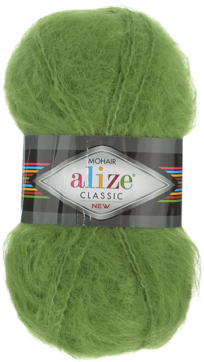 Пряжа для вязания Alize Mohair Classik New, цвет: зеленый (210), 200 м, 100 г, 5 шт582105_210Классическая мохеровая пряжа Alize Mohair Classik New для ручного вязания, тонкая, мягкая, деликатная нить, хорошо скрученная. Послушная нить, которая отлично подходит для опытных вязальщиц и для начинающих рукодельниц. Легкая и гибкая пряжа с акрилом, придающим готовым вещам практичность. Благодаря пушистому мохеру можно использовать самый простой узор и при этом изделие будет выглядеть великолепно. Высококачественная пряжа, равномерно окрашенная, не линяет. Мягкая, теплая нить прекрасно подходит для взрослой и детской зимней одежды. Пушистость пряжи в изделии без сложных узлов даже с ровной вязкой будет придавать одежде особый шарм. Состав: 25% мохер, 24% шерсть, 51% акрил. Рекомендованные спицы № 5-7, крючок № 2-4.