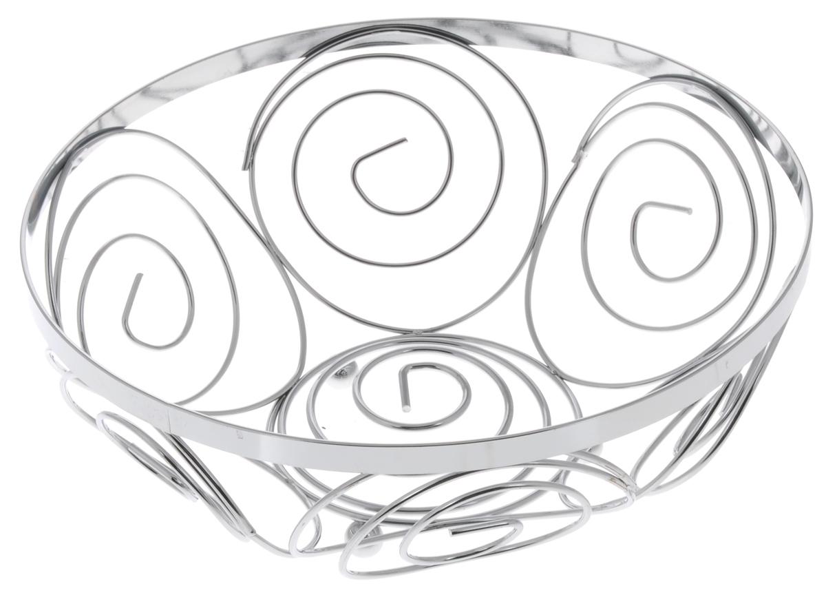 Фруктовница Guterwahl, круглая, диаметр 23 см. YSH-004-5YSH-004-5Оригинальная фруктовница Guterwahl, изготовленная из нержавеющей стали с хромированной поверхностью, идеально подходит для хранения и красивой сервировки любых фруктов. Современный дизайн фруктовницы идеально впишется в интерьер вашей кухни. Изделие рекомендуется мыть вручную с применением любых неабразивных моющих средств. Не рекомендуется использование металлических щеток для чистки. Диаметр: 23 см. Высота: 9,5 см.