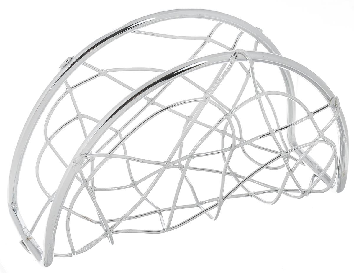 Салфетница Olaff, 15,5 х 5 х 9,5 смYSH-701Салфетница Olaff выполнена из нержавеющей стали с хромированным покрытием. Изделие великолепно украсит стол. Дизайн придется по вкусу и ценителям классики, и тем, кто предпочитает утонченность и изысканность. Размер салфетницы: 15,5 х 5 х 9,5 см.