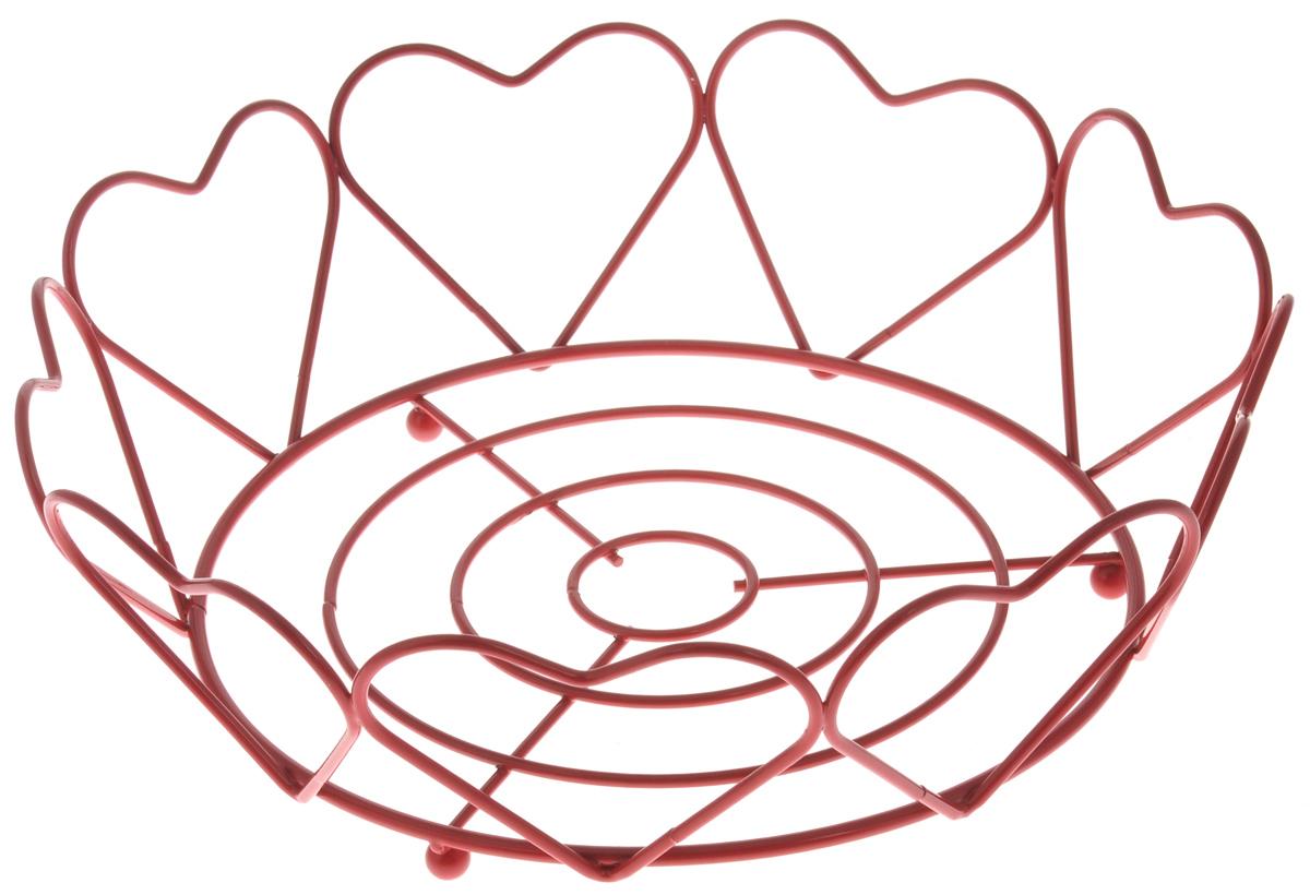 Фруктовница Olaff Сердце, круглая, диаметр 23 смYSH-199Оригинальная фруктовница Olaff Сердце, изготовленная из нержавеющей стали, идеально подходит для хранения и красивой сервировки любых фруктов. Современный дизайн фруктовницы идеально впишется в интерьер вашей кухни. Изделие рекомендуется мыть вручную с применением любых неабразивных моющих средств. Не рекомендуется использование металлических щеток для чистки. Диаметр (по верхнему краю): 23 см. Высота: 7 см.
