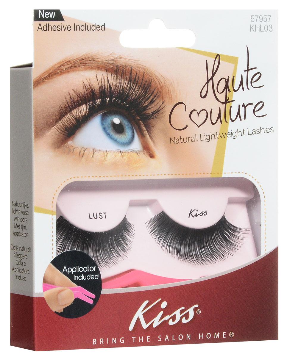 Kiss Haute Couture Накладные ресницы Single Lashes Lust KHL03GT12-014Накладные ресницы Kiss Haute Couture Lust (KHL03) подходят для вечернего яркого макияжа, создают эффект выразительных больших глаз. Изготовлены вручную из натурального волоса, отличаются великолепным качеством и мягкостью, комфортны для глаз. Изогнутая форма пинцета удобна для крепления ресниц. Клей с содержанием алоэ обеспечивает гипоаллергенность. Протестировано и одобрено дерматологами. Можно использовать несколько раз. Снятие ресниц не требует дополнительных средств: просто приложите ватный диск с теплой водой и снимите ресницы. Состав набора: пара накладных ресниц, пинцет, клей.