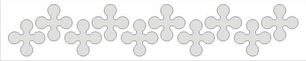 Мамасвет Световозвращающий стикер Крестики серебристый ( СТБ-КР-03 )