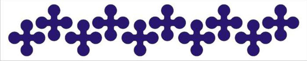 Мамасвет Световозвращающий стикер Крестики цвет синий ( СТС-КР-03 )
