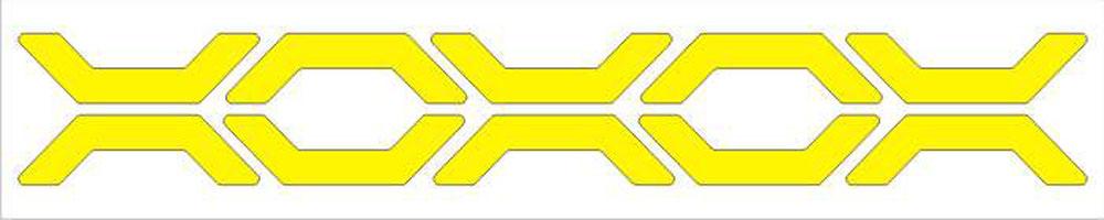 Мамасвет Световозвращающий стикер Трэк цвет желтый ( СТЖ-ТР-05 )