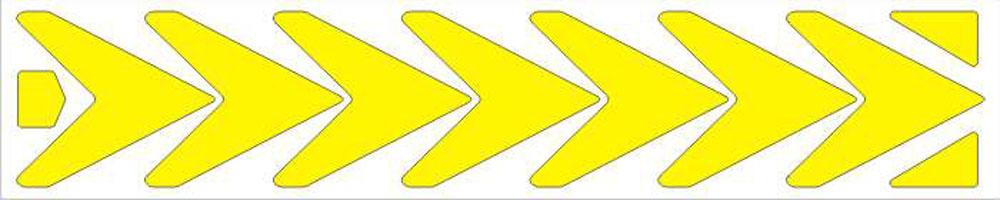 Мамасвет Световозвращающий стикер Стрелки цвет желтый ( СТЖ-СТ-04 )