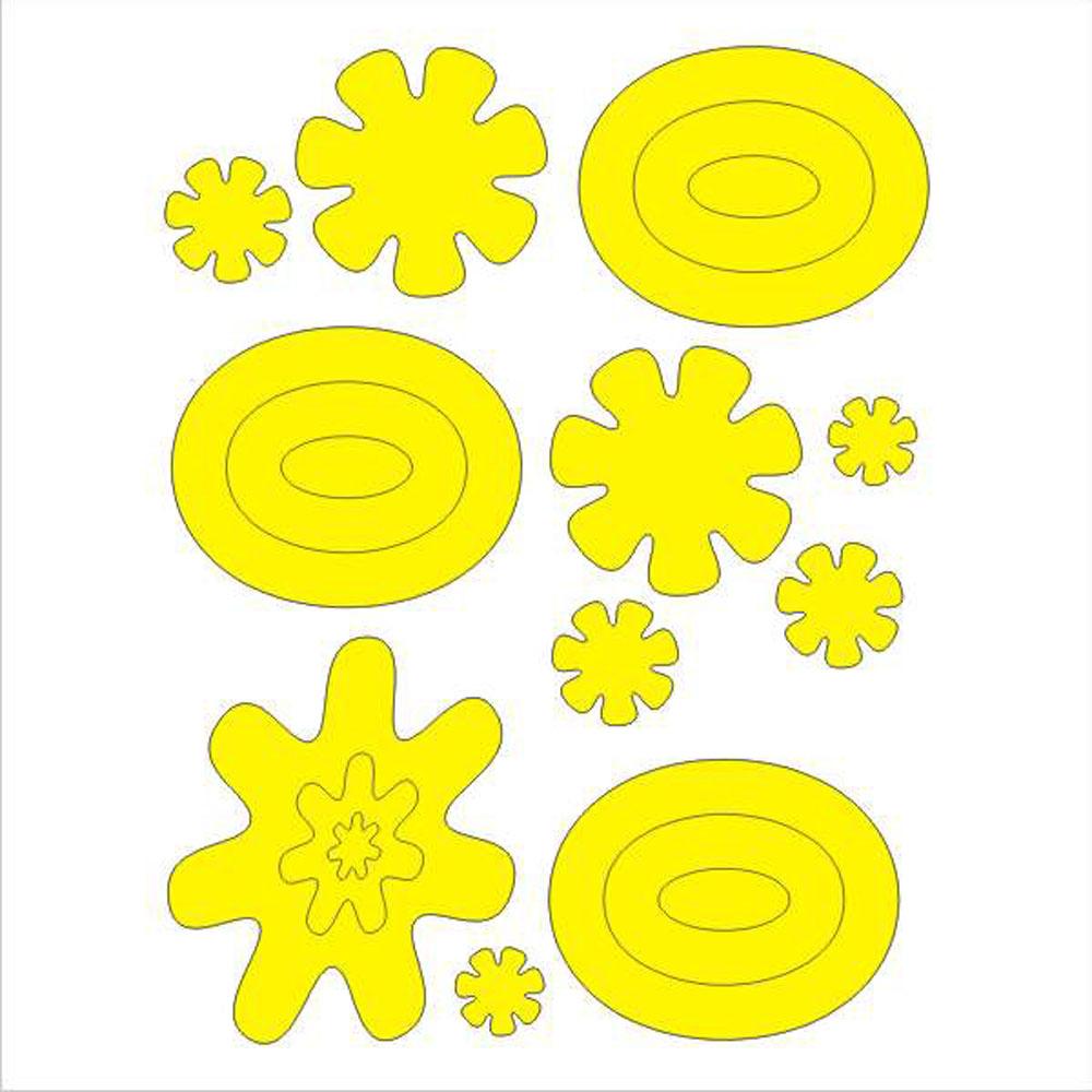 Мамасвет Световозвращающий стикер Арт цвет желтый ( СТЖ-А-100 )