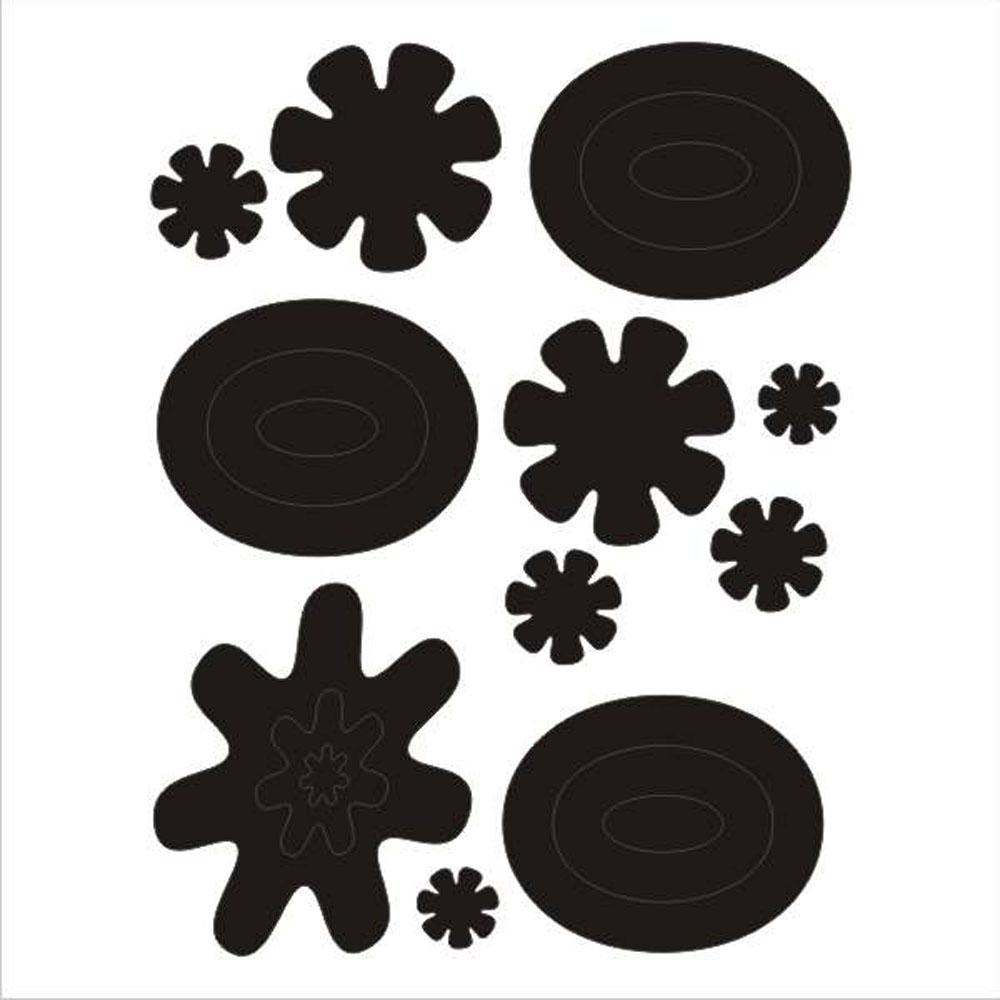 Мамасвет Световозвращающий стикер Арт цвет черный