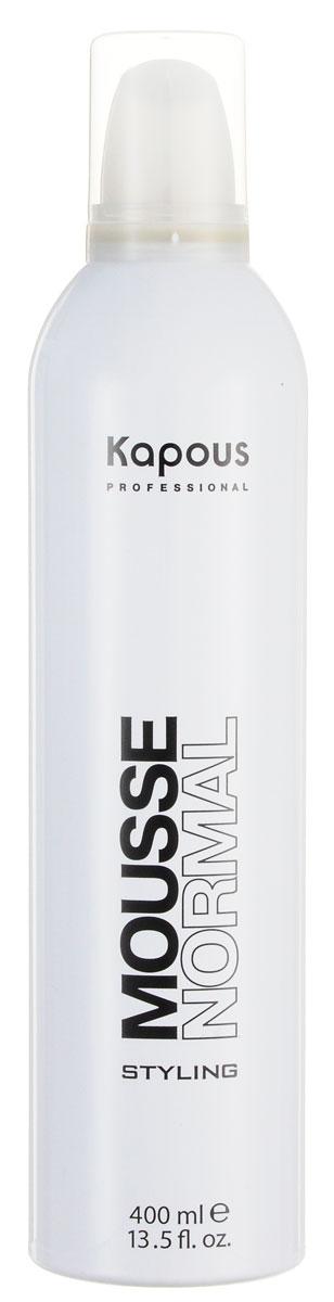 Kapous Professional Мусс для укладки волос нормальной фиксации 400 мл339Мусс для укладки волос нормальной фиксации Kapous предназначен для всех типов волос, оставляя их послушными и мягкими. Великолепное укладочное средство. Придаёт объём и делает воздушной любую причёску без утяжеления. Защищает волосы от воздействия горячего фена и солнечных лучей. Результат: Мусс для волос, увеличивая объем, делает любую прическу влздушной, обеспечивает длительную фиксацию.