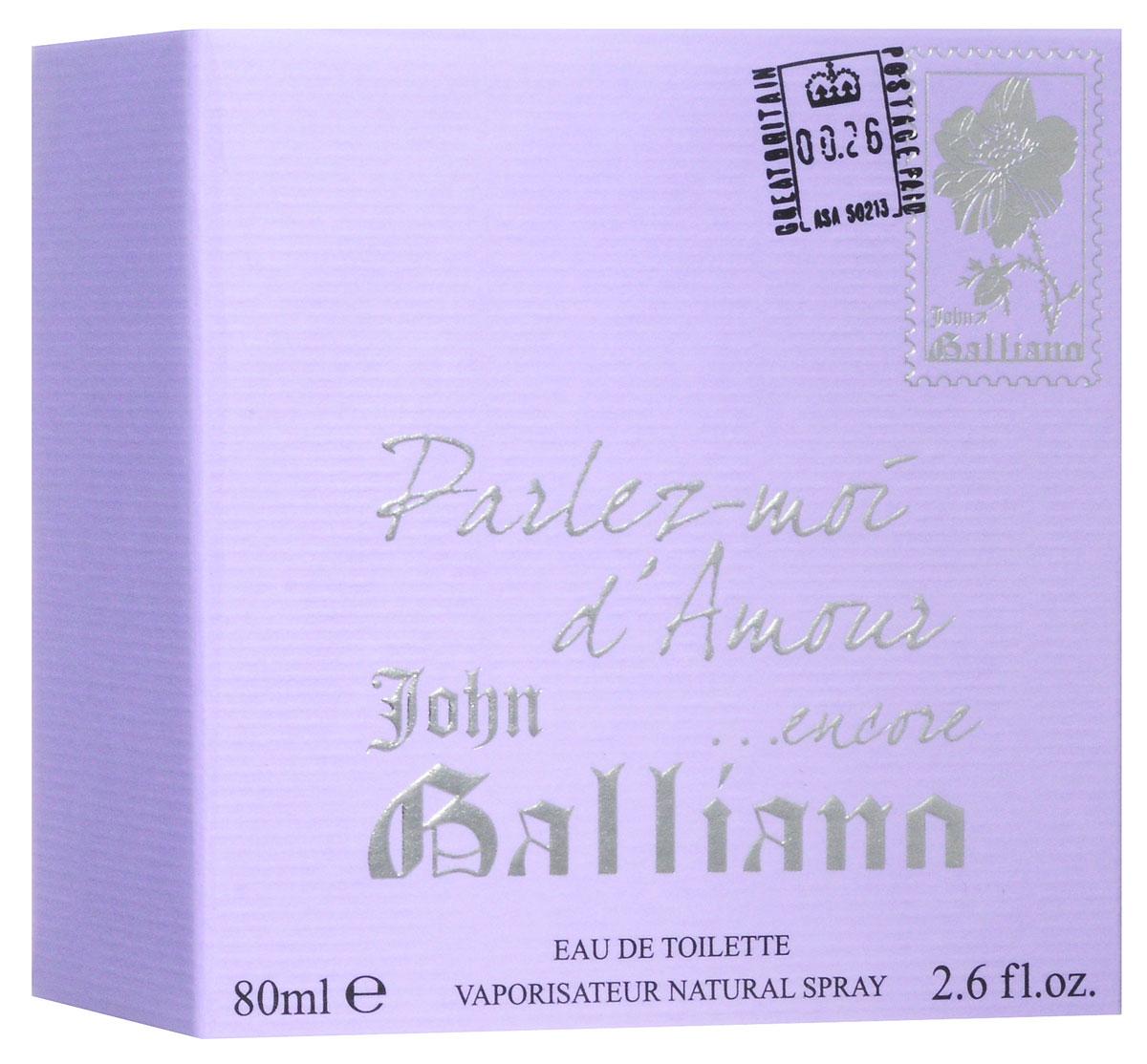 "John Galliano Туалетная вода ""Parlez-moi d'Amour... Encore"" женская, 80 мл 67000090"