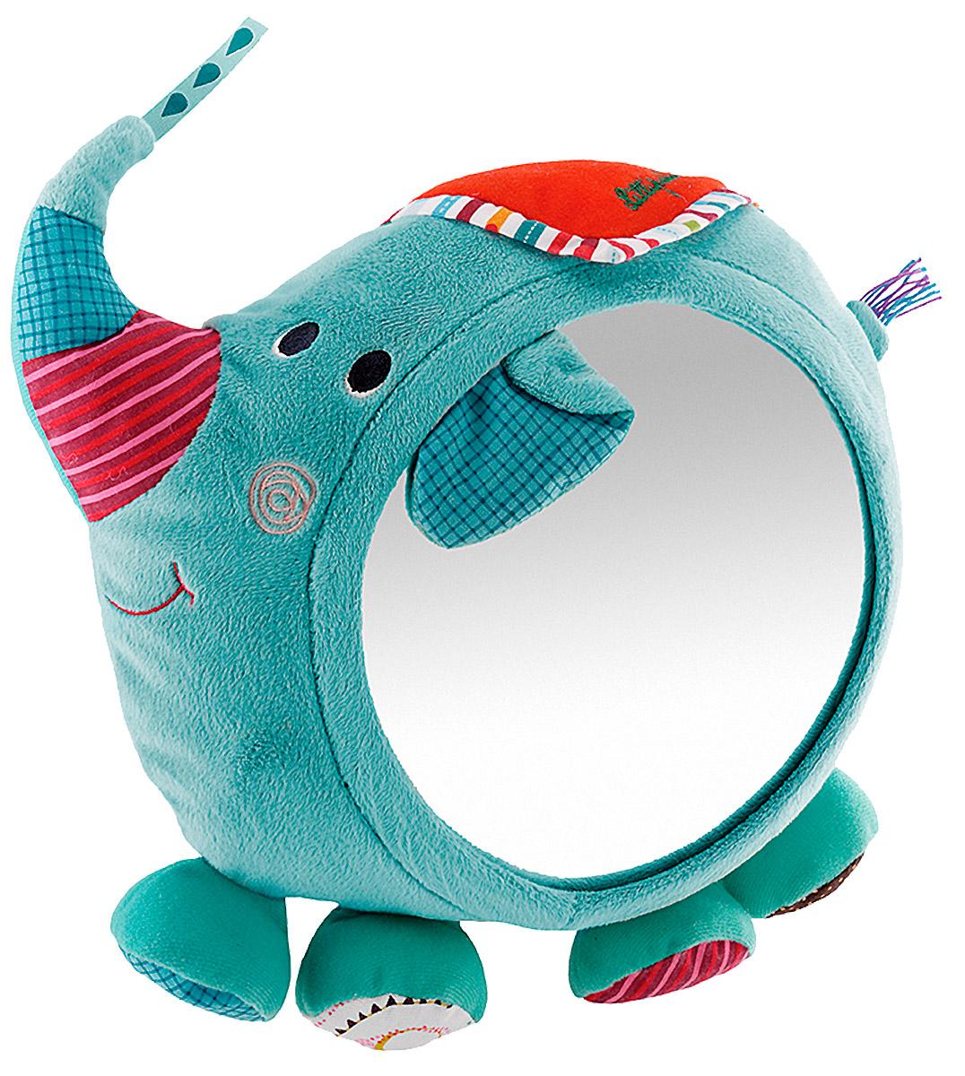 Lilliputiens Развивающая игрушка Слоненок Альберт с зеркалом86566С развивающей игрушкой Lilliputiens Слоненок Альберт с зеркалом станет настоящим другом для любого малыша. Он добродушный и очень дружелюбный. На бочке у слоника имеется большое круглое зеркальце, в которое будет так интересно смотреться малышу. С помощью удобных завязок игрушку можно повесить в детской комнате, на кроватку или даже на автомобильное сиденье, если вы отправляетесь в путешествие. Кроме того, Альберт очень мягкий. Перевернув слоника на другую сторону, его можно использовать как удобную подушку. Альберт изготовлен из качественных гипоаллергенных материалов, безопасных для ребенка. Его хобот, ножки и ушки украшены яркими цветными лоскутками. Игрушка обязательно понравится и мальчикам, и девочкам. Развивающая игрушка Lilliputiens Слоненок Альберт с зеркалом развивает мелкую моторику и цветовое восприятие ребенка. Порадуйте свою кроху таким милым подарком!