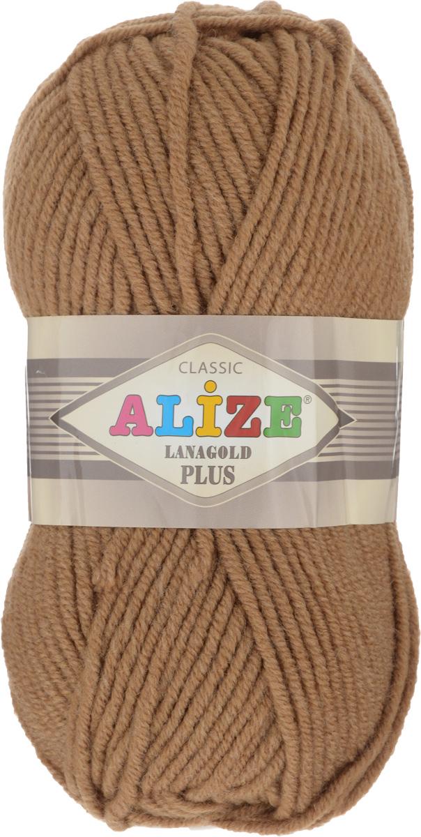 Пряжа для вязания Alize Lana Gold Plus, цвет: темно-горчичный (179), 140 м, 100 г, 5 шт695158_179Пряжа Alize Lana Gold Plus - это полюбившаяся всем рукодельницам полушерстяная пряжа, которая прекрасно подойдет для вязания теплых вещей: уютных свитеров и мягких кофт, удобных и стильных платьев и сарафанов, ярких шарфов и шапочек. Сбалансированный состав пряжи Alize Lana Gold Plus позволяет получать мягкие, приятные к телу вещи, хранящие тепло натуральной шерсти и обладающие практичностью акриловой нити. Вязать из полушерстяной теплой пряжи легко и приятно - упругая, плотная нить красиво ложится в любой узор, не слоится и мягко скользит по спицам. Приятная цветовая гамма порадует любителей насыщенных, глубоких оттенков, которые так актуальны зимой. Нить ровная, очень пышная, не линяет и не выгорает, подходит для вязания трикотажных вещей детям и взрослым. Изделия из этой пряжи получаются мягкие, очень легкие, износостойкие. Рекомендуются спицы: 5-7 мм. Комплектация: 5 мотков. Состав: 51% акрил, 49% шерсть.