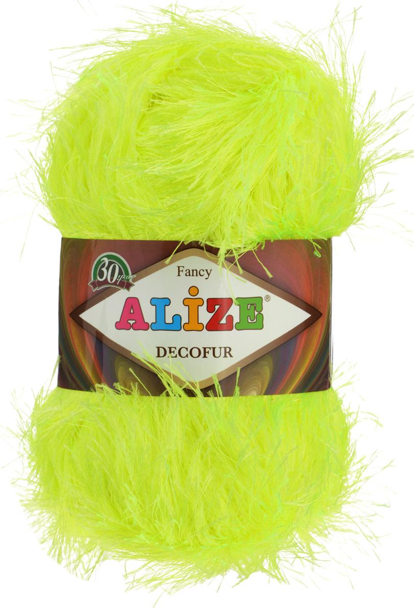 Пряжа для вязания Alize Decofur, цвет: желтый неон (552), 110 м, 100 г, 5 шт364128_552Пряжа Alize Decofur изготовлена из высококачественного полиэстера. Пряжа - травка используется как для вязания самостоятельных пушистых изделий, так и для отделки. Это могут быть нарядные кофточки, куртки, накидки, шарфы, шапки, шали, предметы домашнего интерьера, игрушки и многое другое. Рекомендованные спицы для вязания: 6-8 мм. Рекомендованный крючок для вязания: 3-4 мм. Комплектация: 5 шт. Состав: 100% полиэстер.