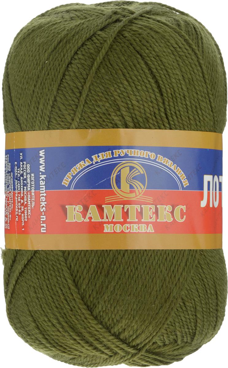 Пряжа для вязания Камтекс Лотос, цвет: оливковый (038), 300 м, 100 г, 10 шт136083_038Пряжа для вязания Камтекс Лотос изготовлена из 100% акрила. Пряжа имеет приятную мягкость, вяжется очень легко, совершенно не путаясь. По своим свойствам акриловая нить близка к шерсти. Только, в отличие от шерсти, она приятна для тела, совсем не колется, не раздражает кожу, подходит даже для детей. Существует вероятность, что изделие может слегка растянуться, но этого можно избежать деликатным обращением и плотной вязкой. Пряжа Камтекс Лотос подходит для вязания крючками и спицами, хорошо получаются любые виды узоров. Идеальный вариант для вязания демисезонных головных уборов, жакетов, свитеров, болеро, детской одежды. Пряжа имеет приятный благородный блеск. Богатая цветовая палитра - смелые и насыщенные оттенки. Рекомендуемый размер крючка и спиц 3-5 мм. Состав: 100% акрил. Комплектация: 10 шт. Толщина нити: 1,5 мм.