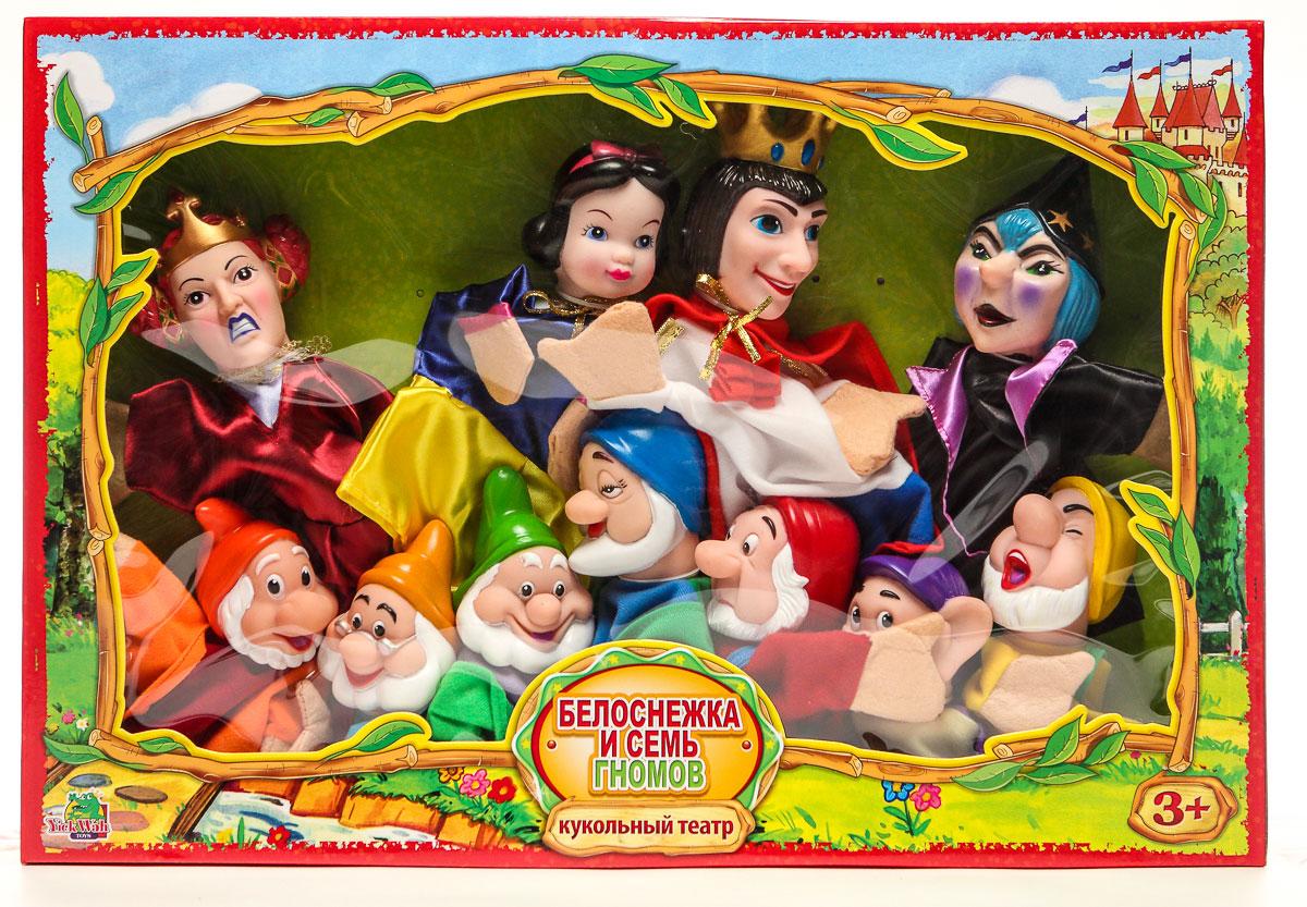Yick Wah Кукольный театр Белоснежка и Семь Гномов7142/9SКукольный театр создан на основе всем известной сказки.Набор состоит из 11-и кукол-марионеток большого размера,одевающихся на кисть руки.Куклы обладают высокой прочностью,безопасностью.Доставляют малышам масс приятных и радостных эмоций