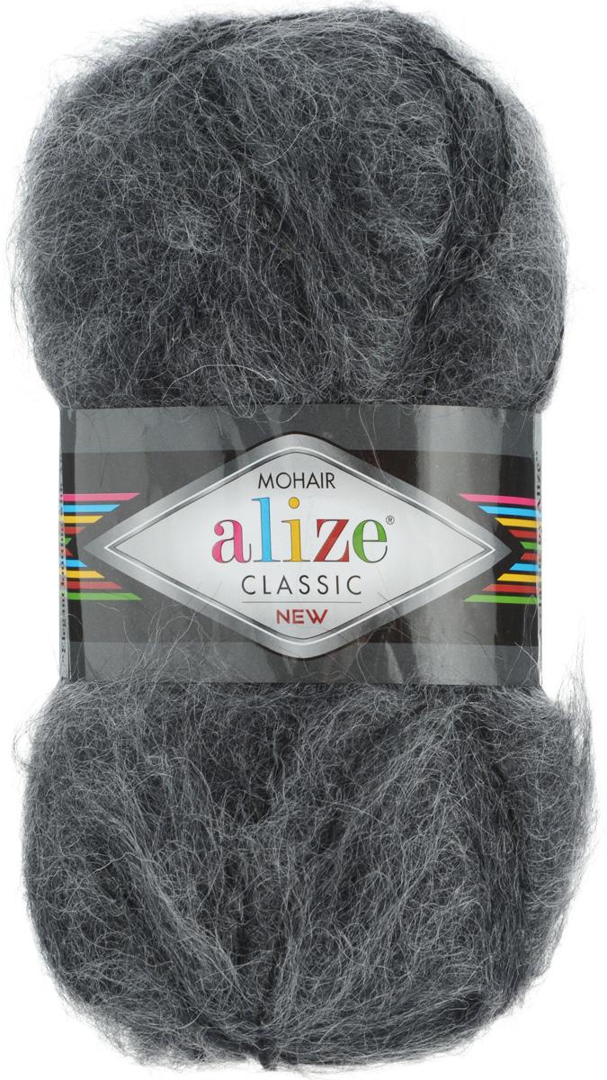 Пряжа для вязания Alize Mohair Classik New, цвет: темно-серый (413), 200 м, 100 г, 5 шт582105_413Пряжа Alize Mohair Classik New, выполненная из мохера и акрила, тонкая, мягкая, деликатная нить, хорошо скрученная. Отлично подходит для опытных вязальщиц и для начинающих рукодельниц. Высококачественная пряжа равномерно окрашена и не линяет. Прекрасно подходит для взрослой и детской зимней одежды. Состав: 25% мохер, 24% шерсть, 51% акрил. Рекомендованные спицы № 5-7, крючок № 2-4.