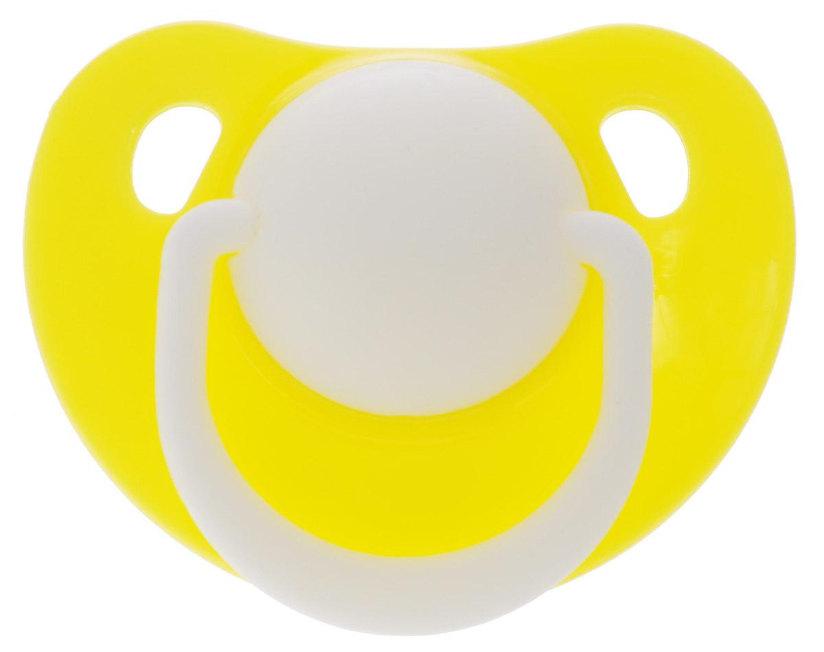 Lubby Пустышка силиконовая Классика от 0 месяцев цвет желтый ( 13956 )